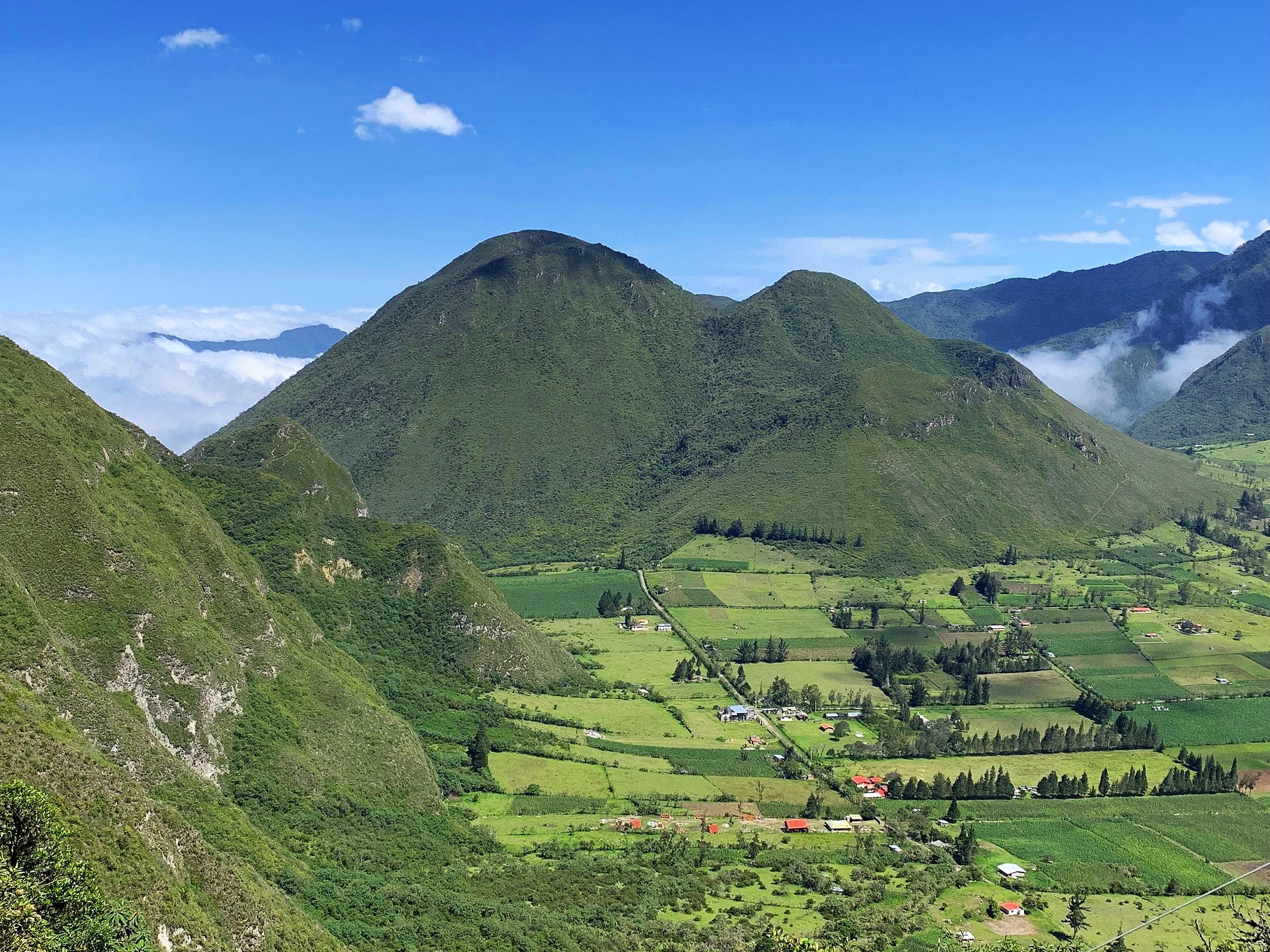 Pululahua Geobotanical Reserve volcanic crater.