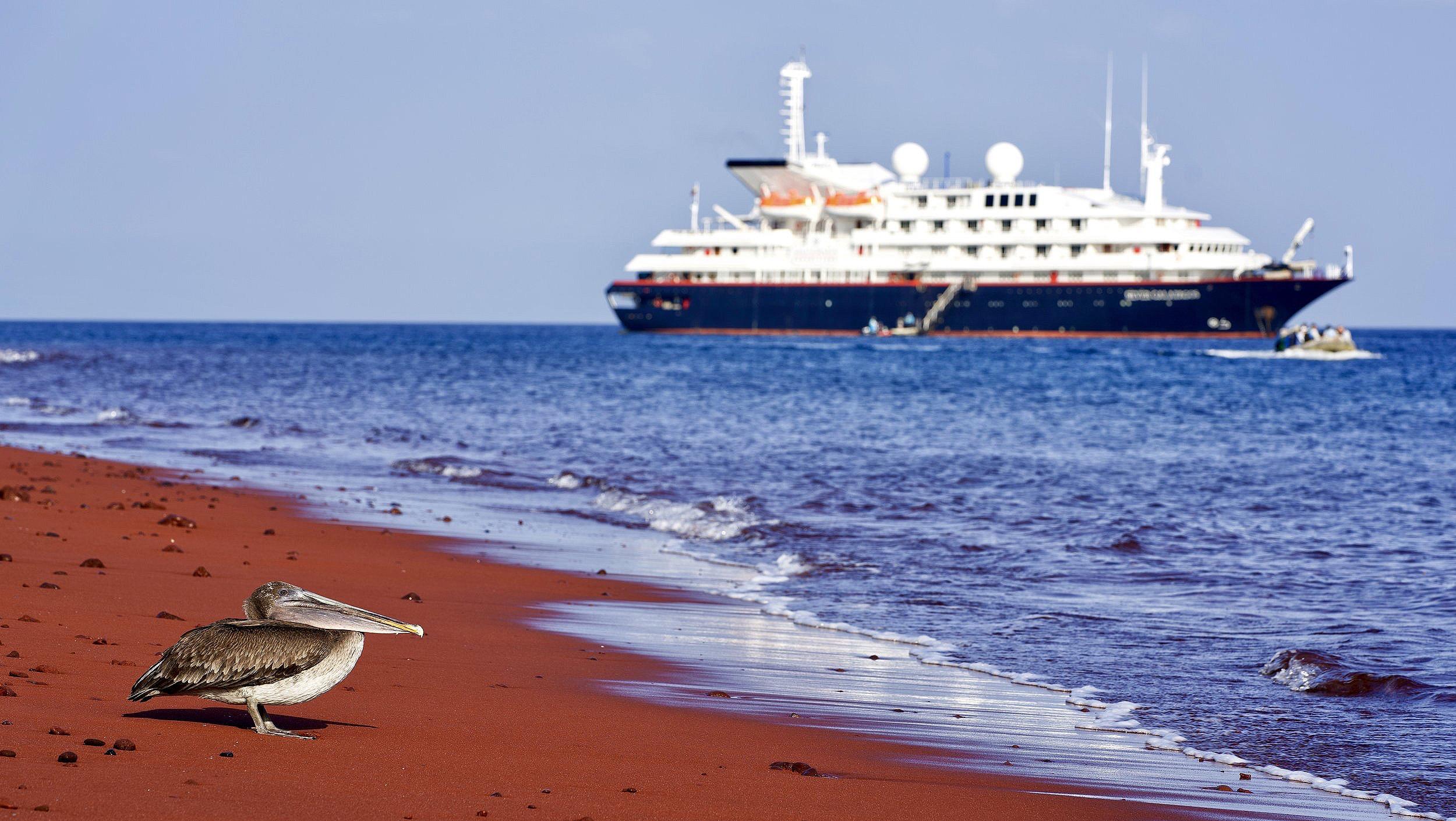 Red sand Rabida island.