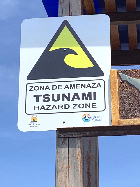 Reassuring signage in San Cristobal!