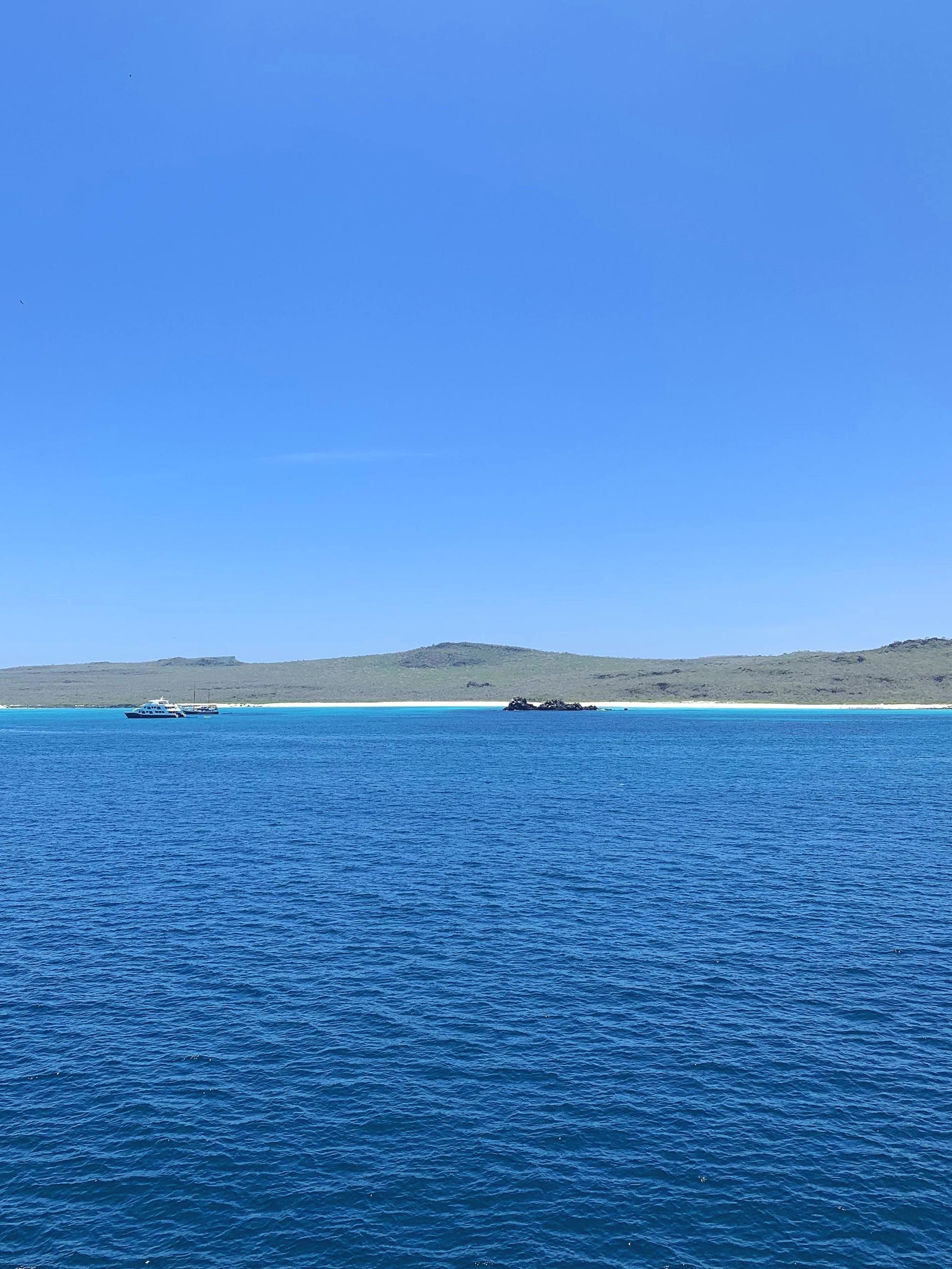 Gardner Bay viewed from the ship.