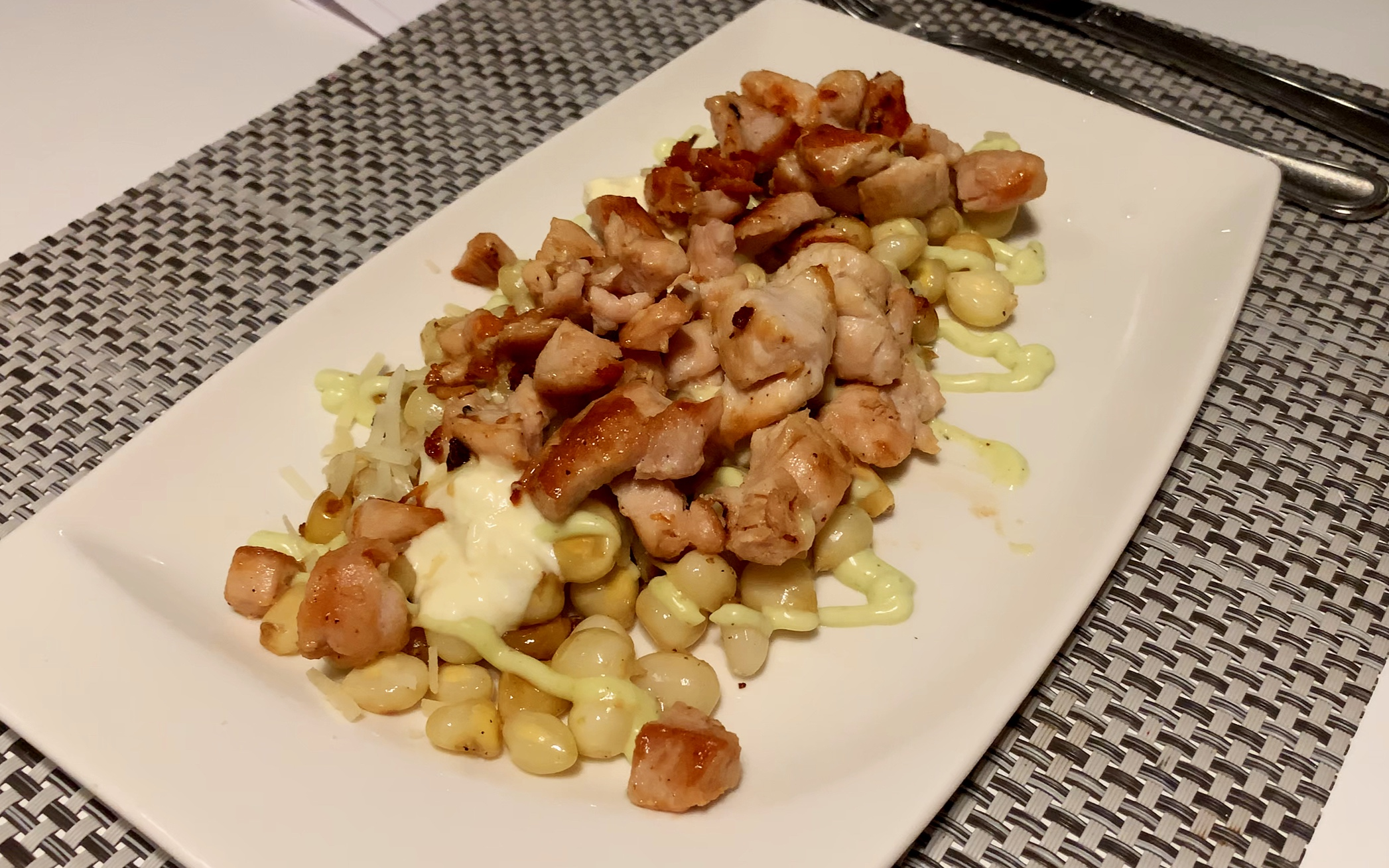 """As well as the traditional lava rocks menu, Hot Rocks offers """"Guayaquils favourite urban food', Bandejita Guayaquilena. This was the chicken version- it was delicious!"""