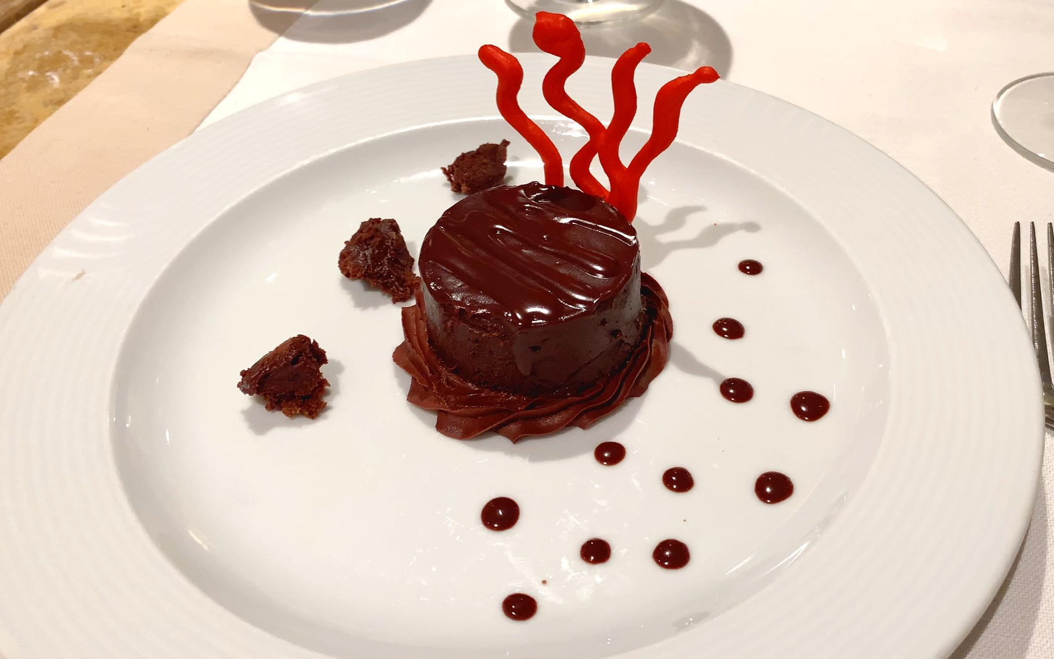Delicious chocolate dessert.