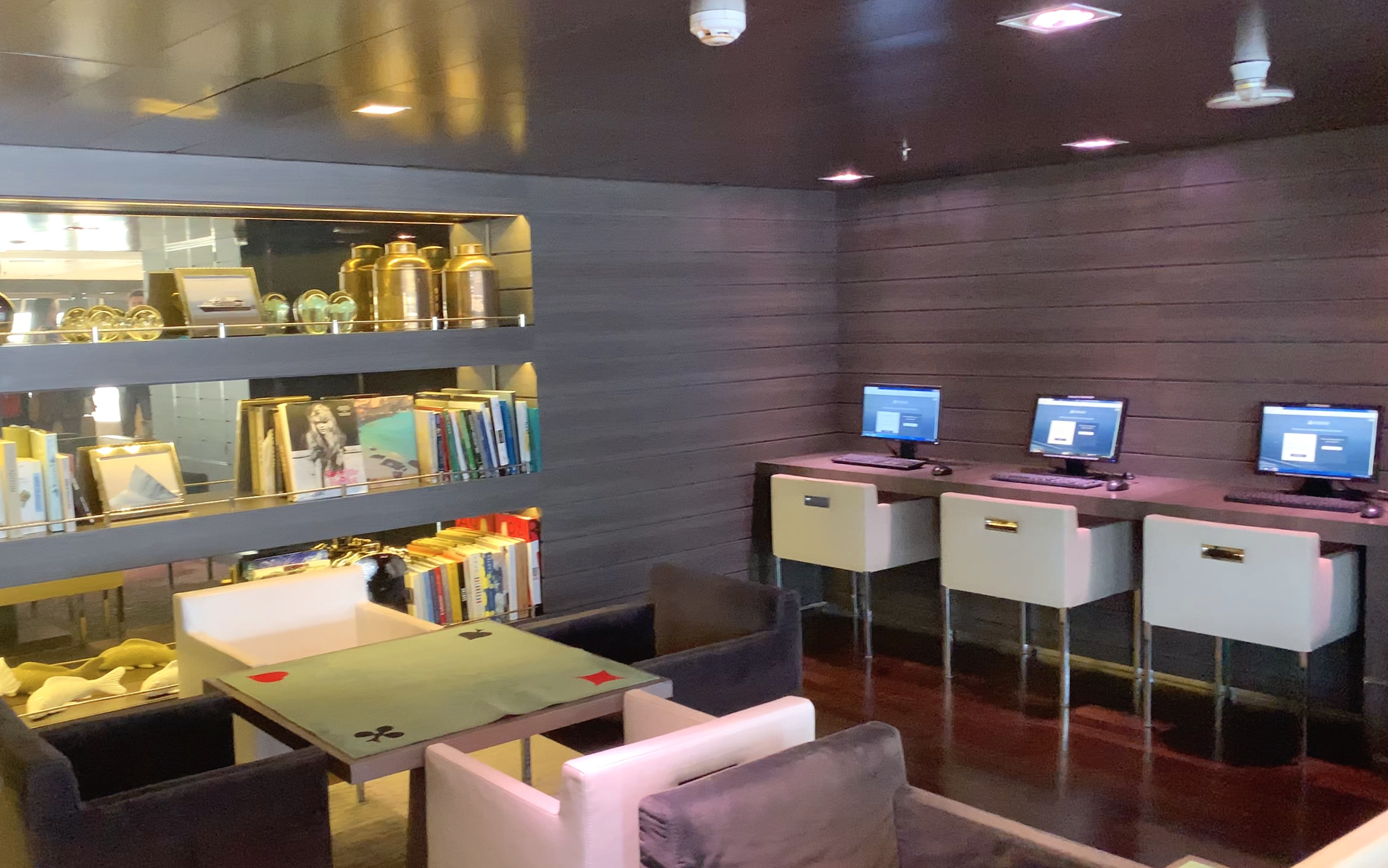 The IT area in the library corner of the Observation bar.