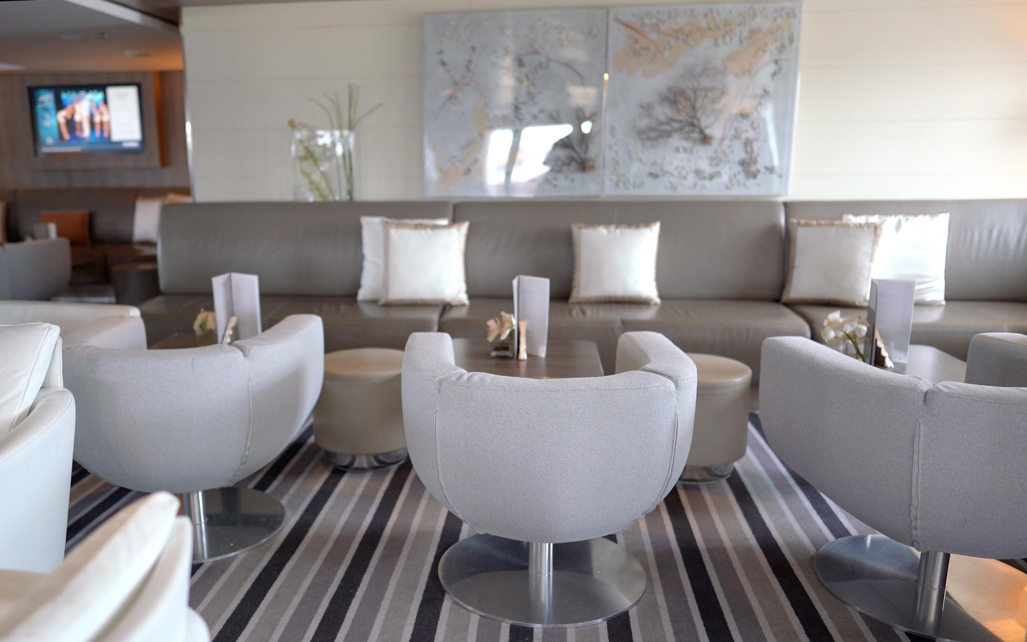 Lounge area seating.