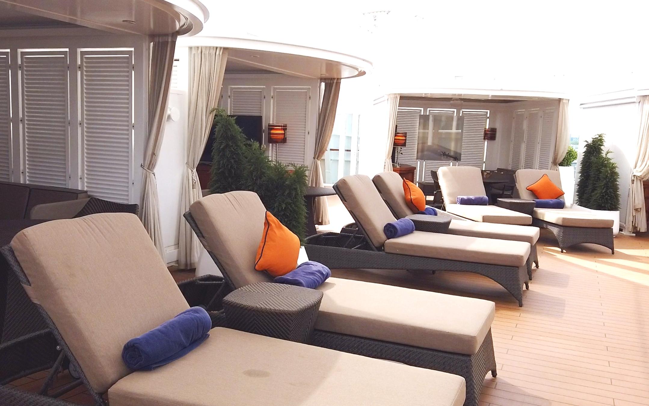 The Retreat sun beds and cabanas.