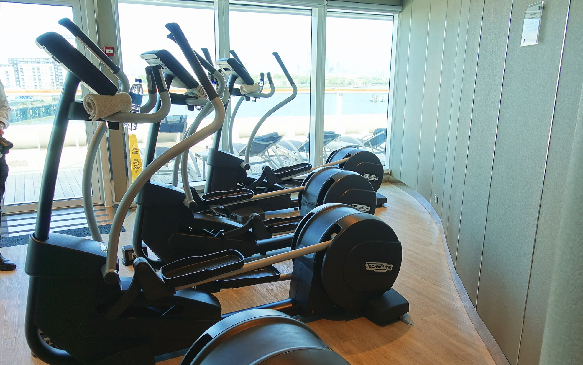 The gym and spa sundeck.