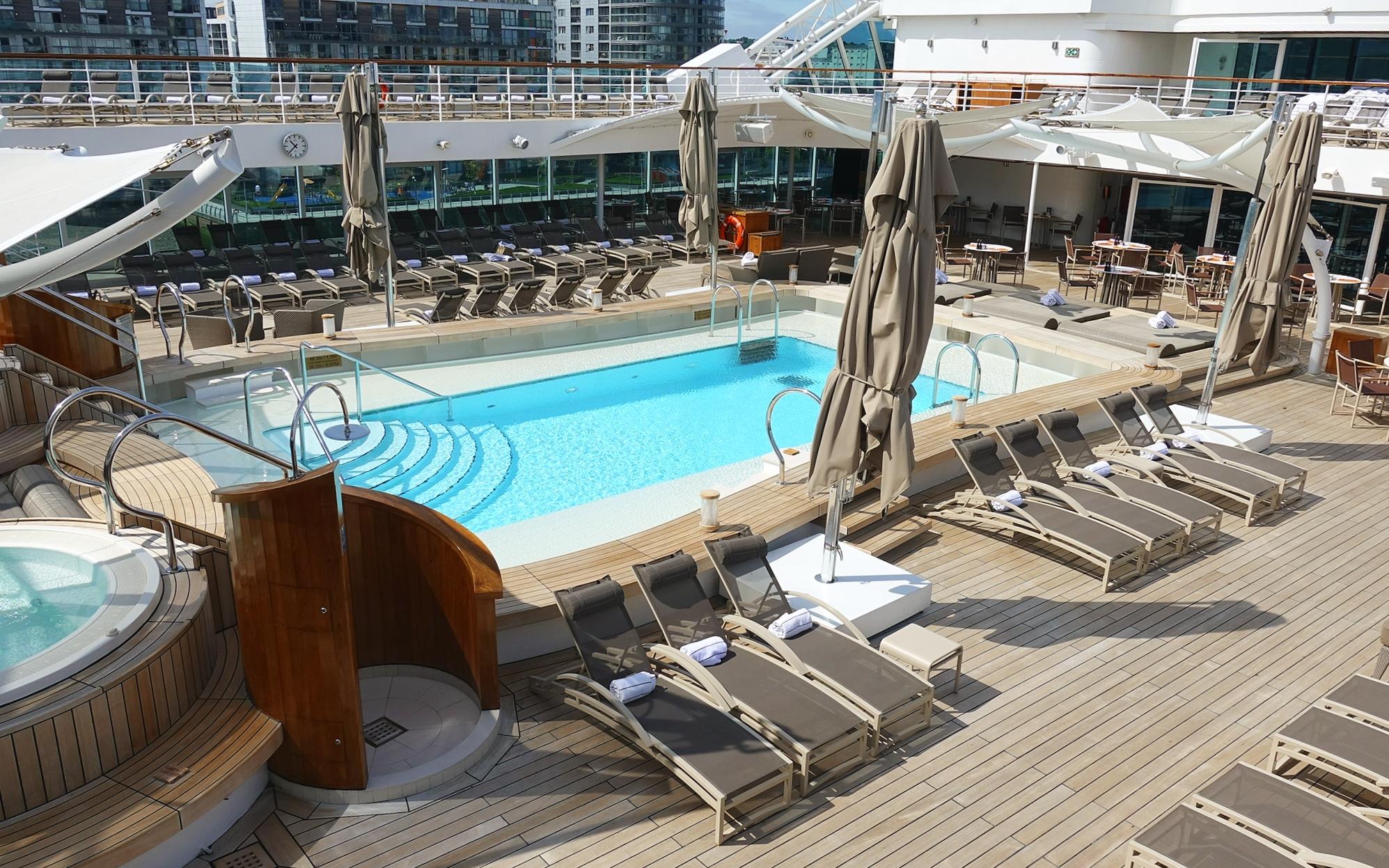 The beautiful pool deck.