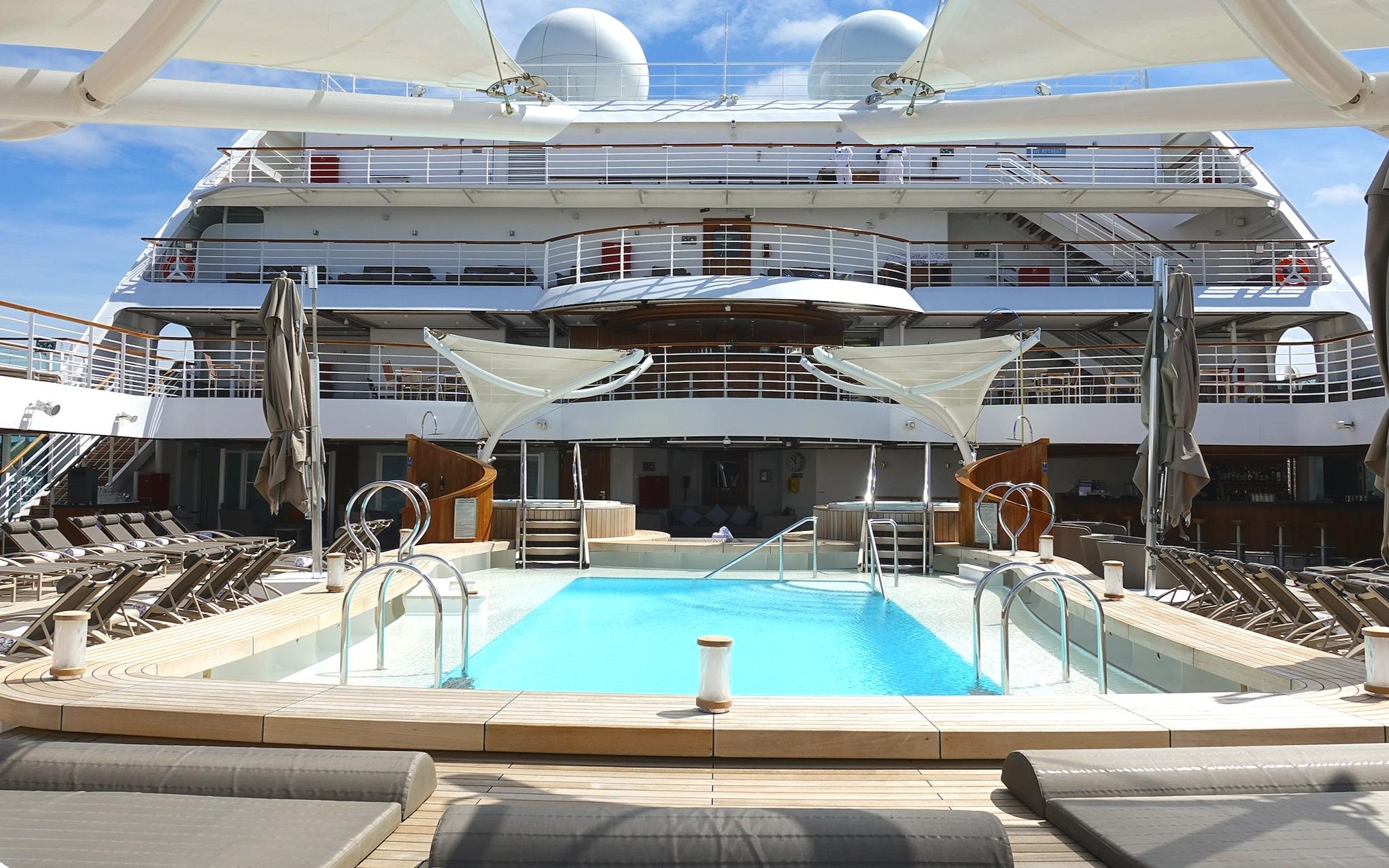 The pool deck, Sky bar and sun terraces.