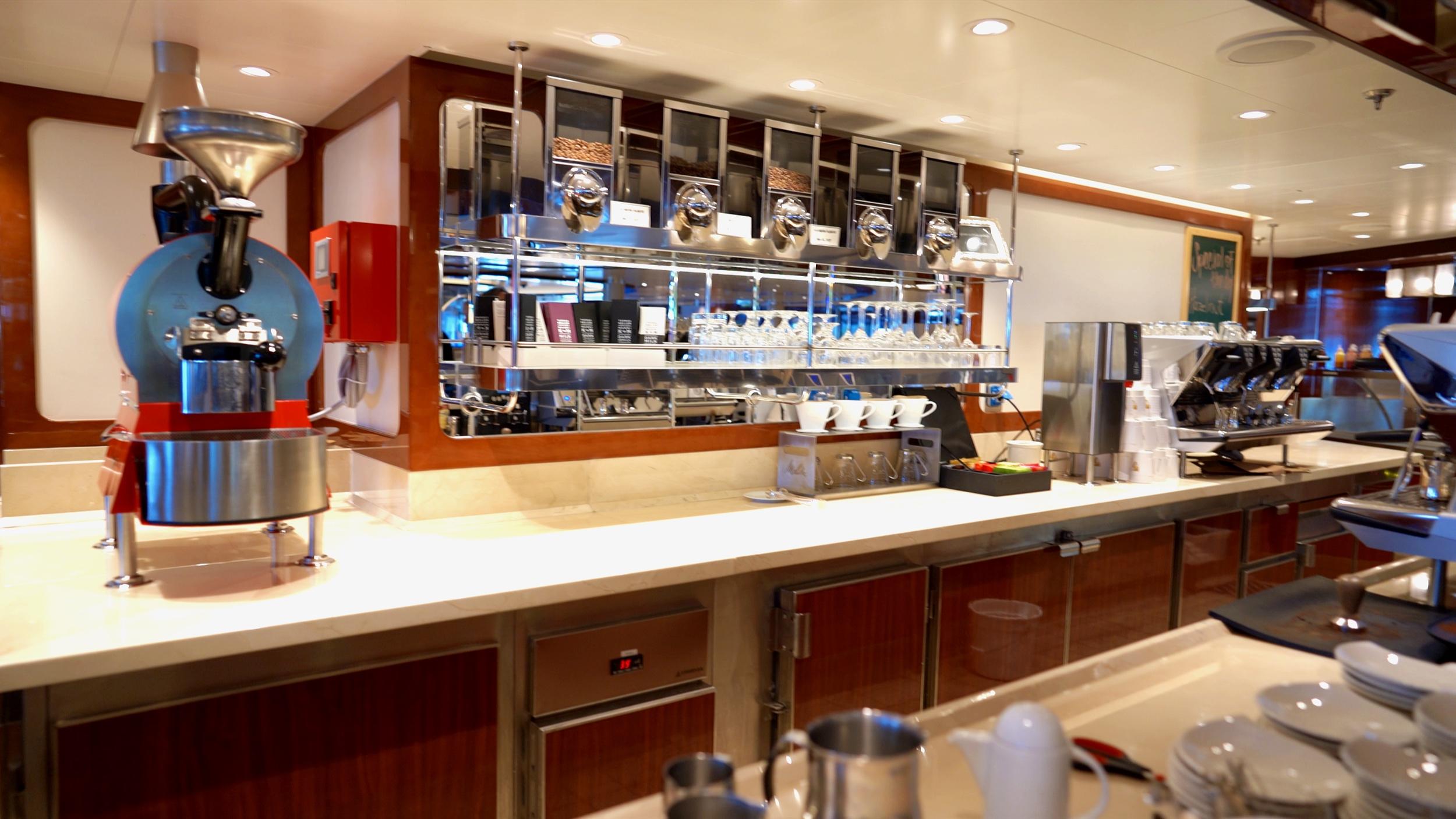 Seabourn Square coffee bar.