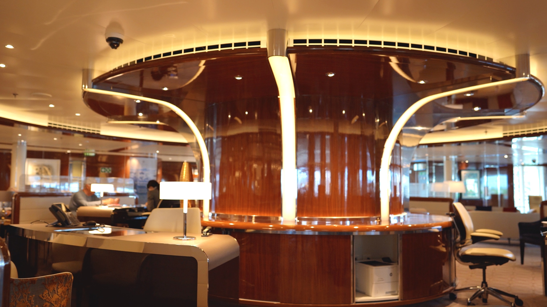 Seabourn Square guest services area.