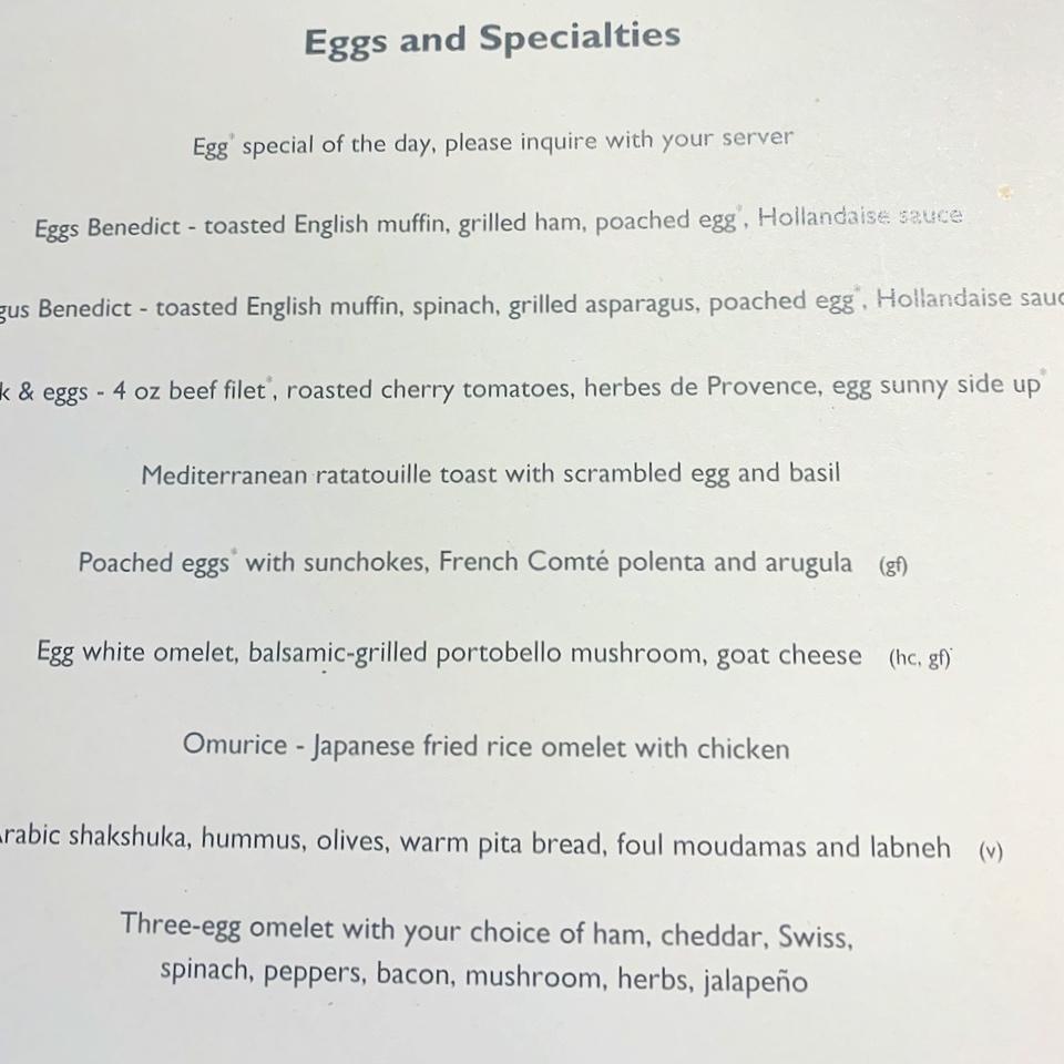Breakfast main dishes
