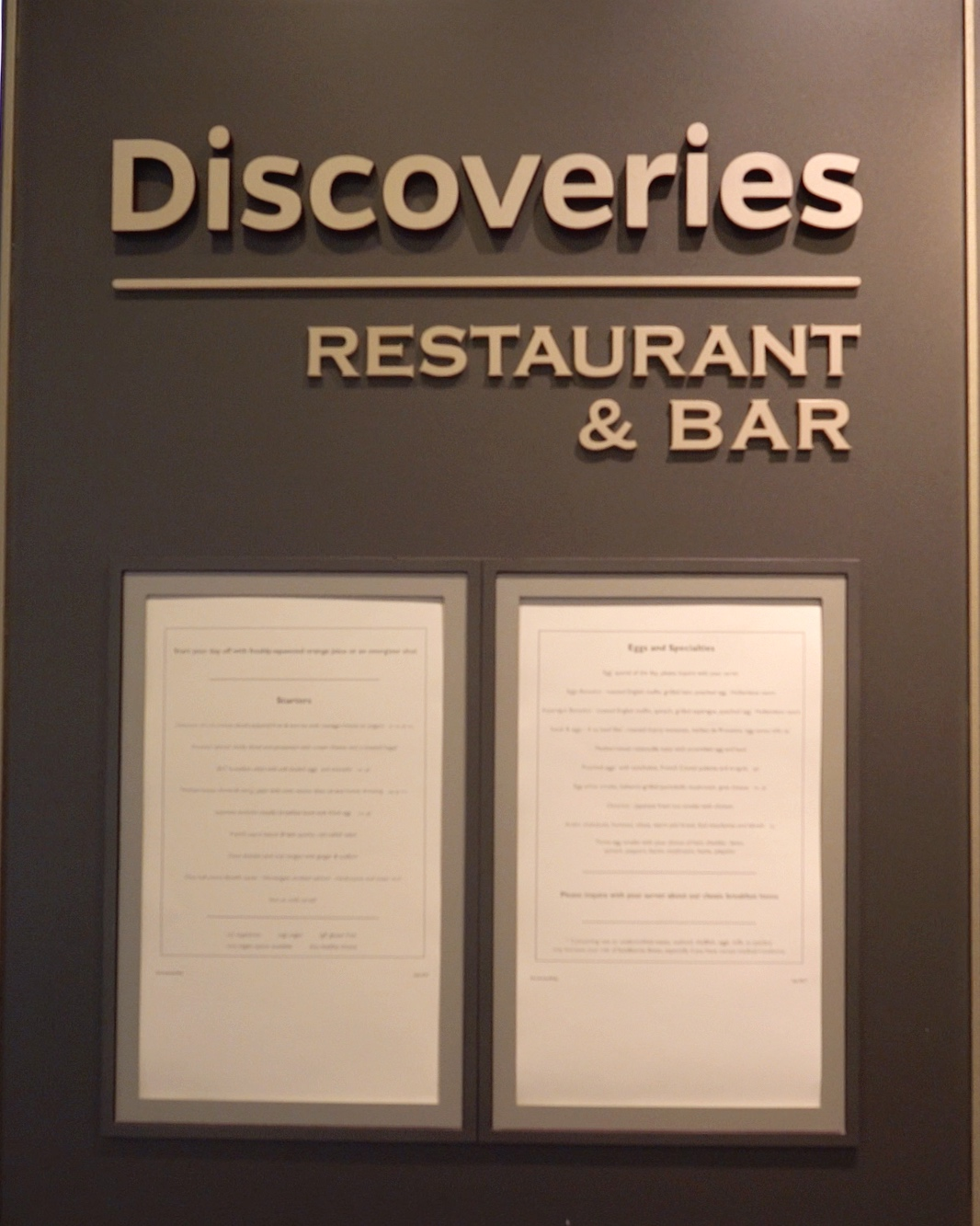 Discoveries restaurant.
