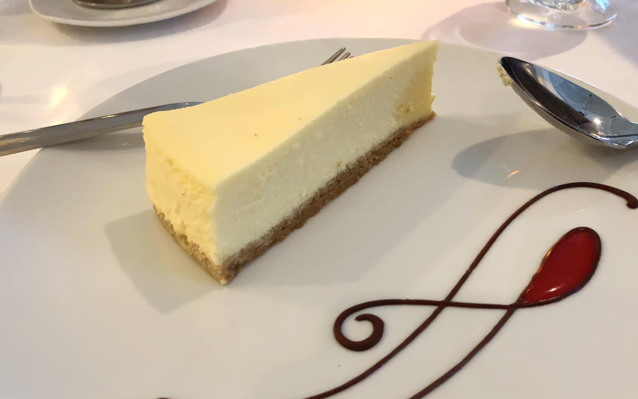 New York cheesecake from the classics menu.