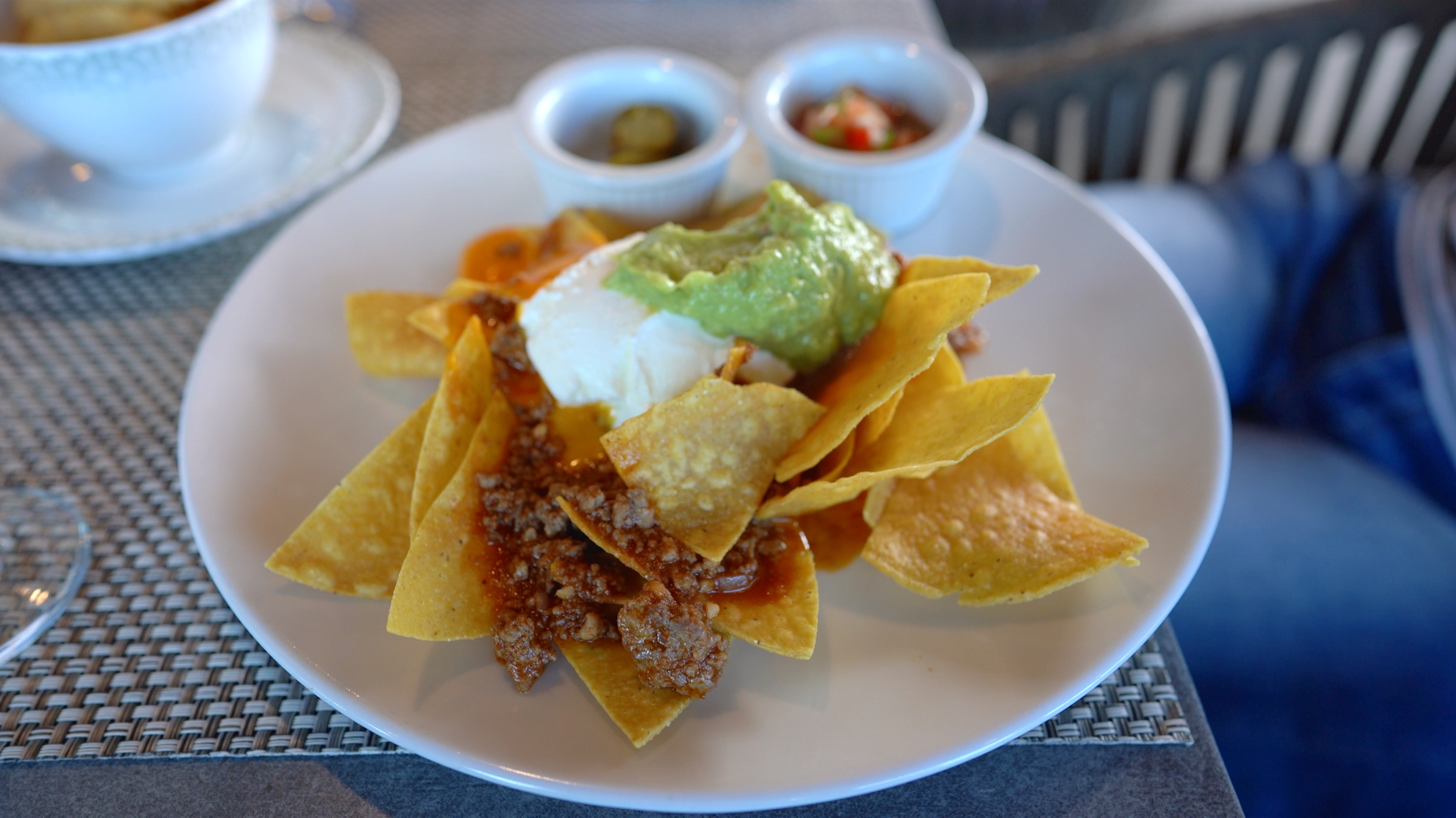The delicious nachos, my favourite lunch.
