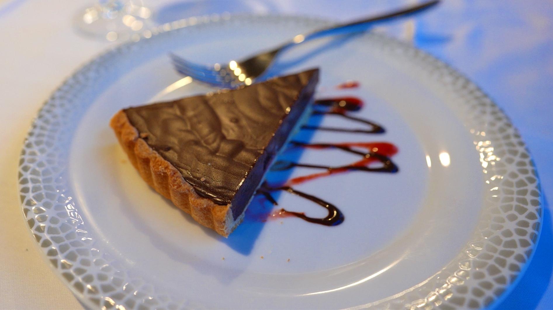 Chocolate pie to finish