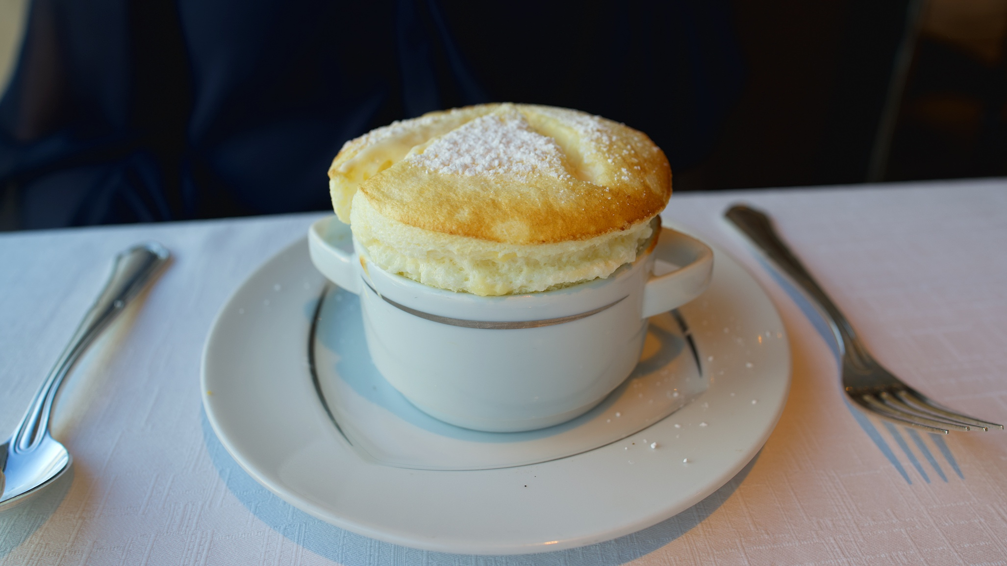 Specially prepared lemon soufflé