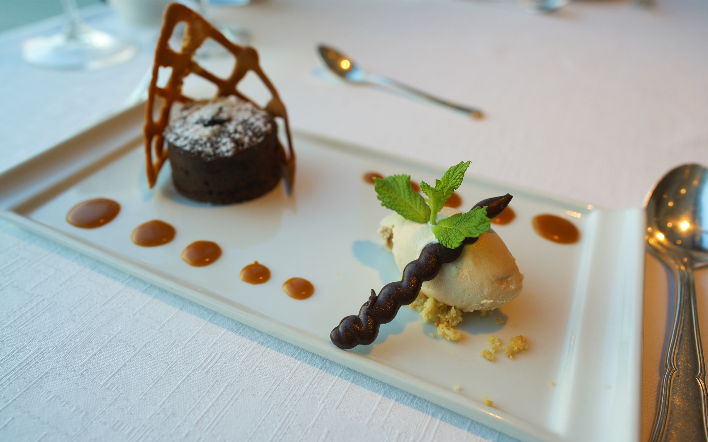 The deliciously soft centred chocolate fondant.