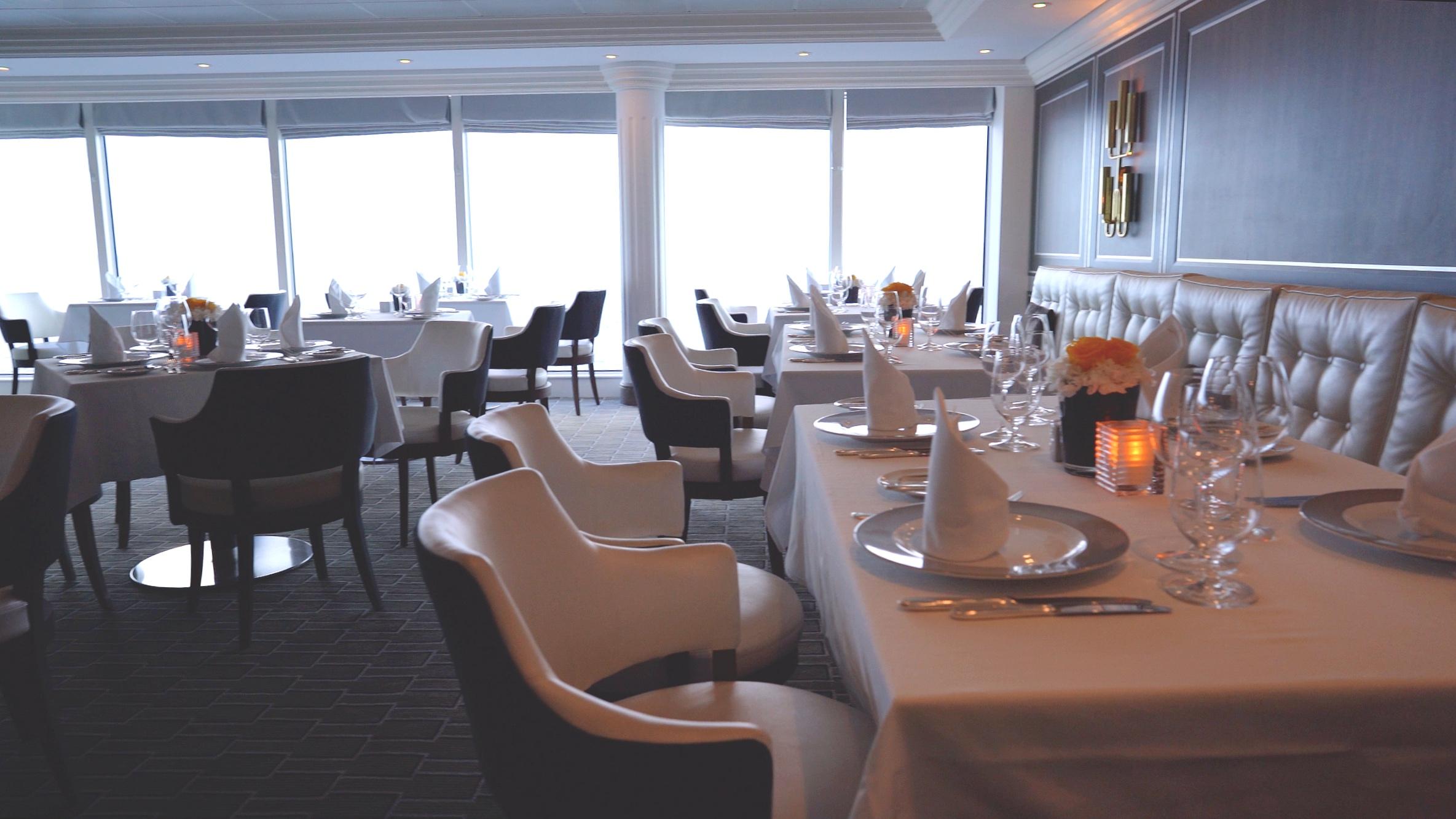 The beautiful Aqualina restaurant