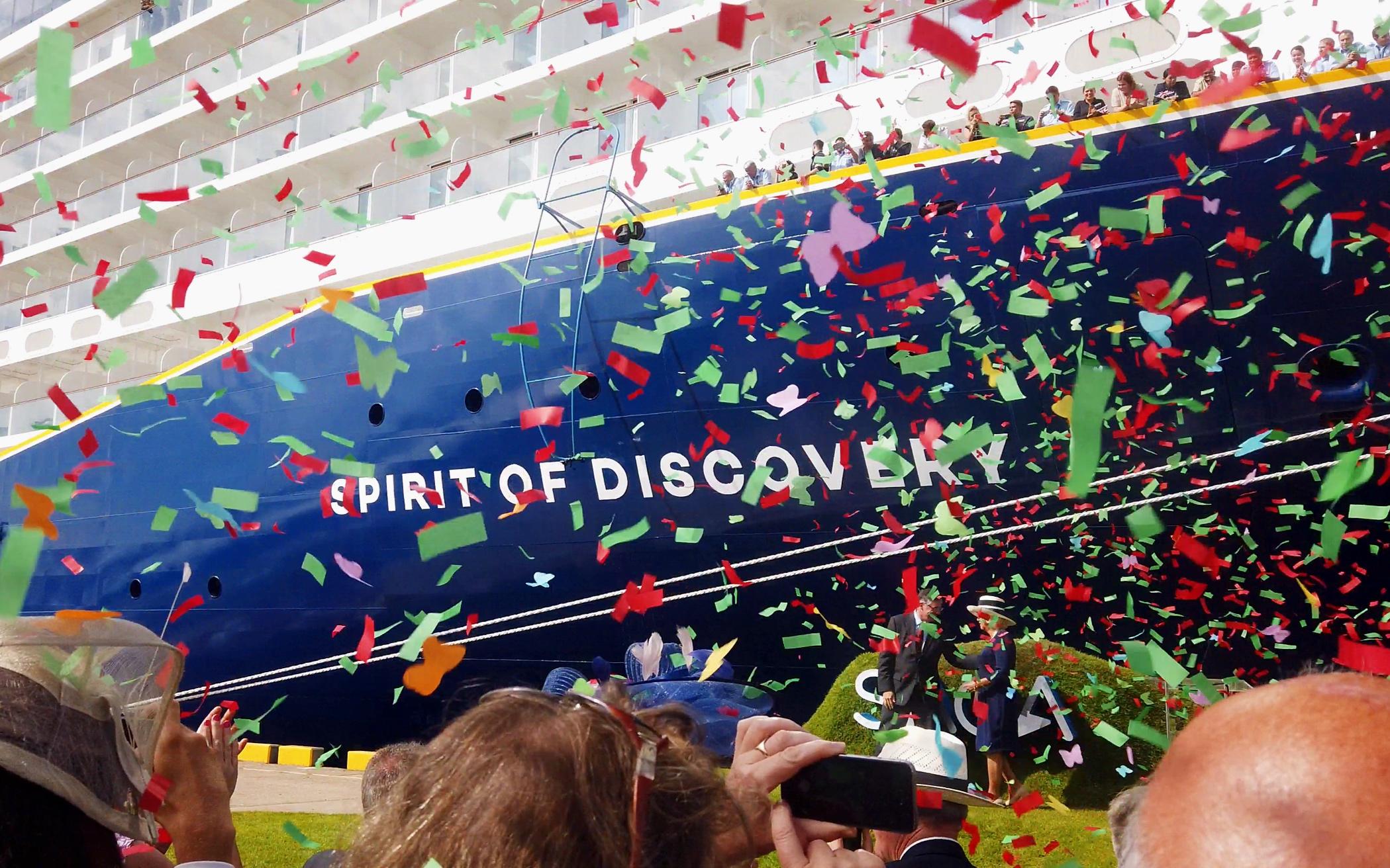 Confetti celebrations.