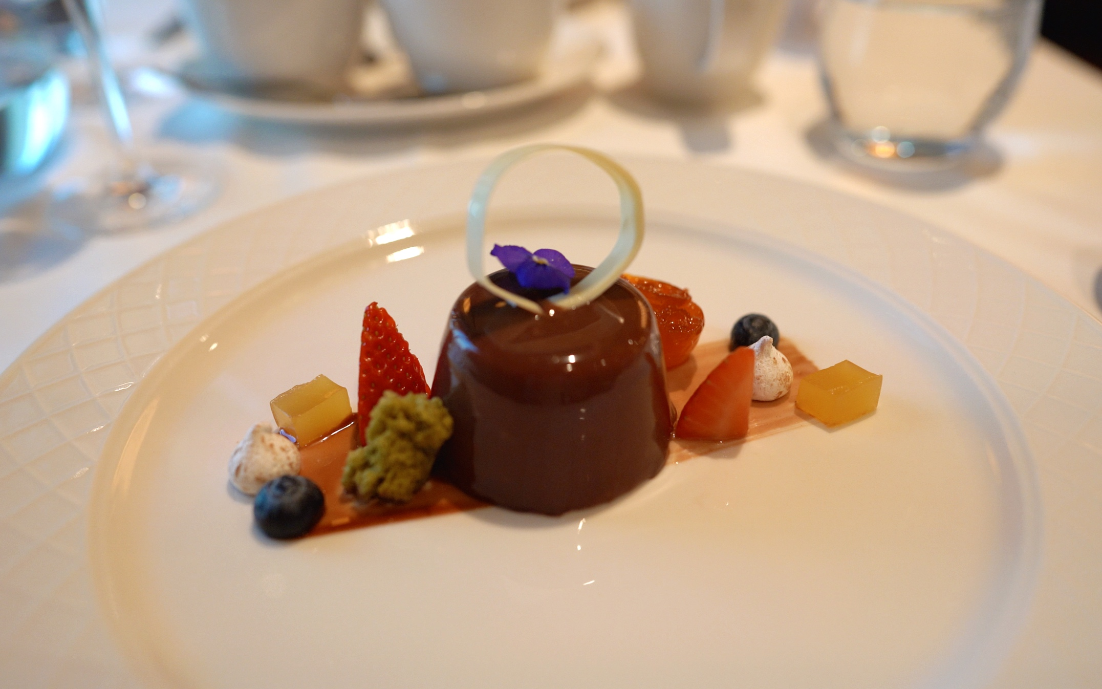 The chocolate hazelnut dessert.