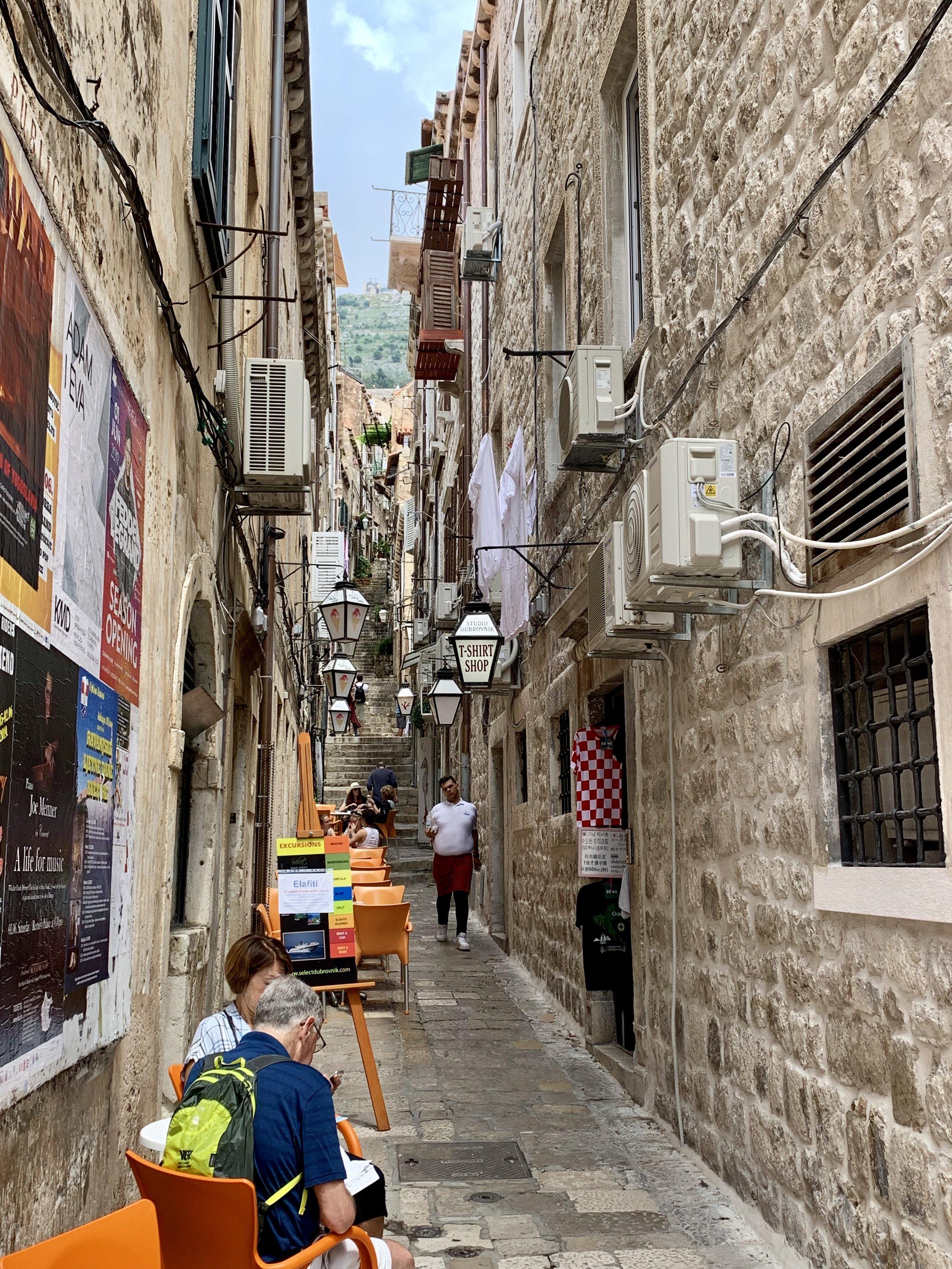 Dubrovnik city walls.