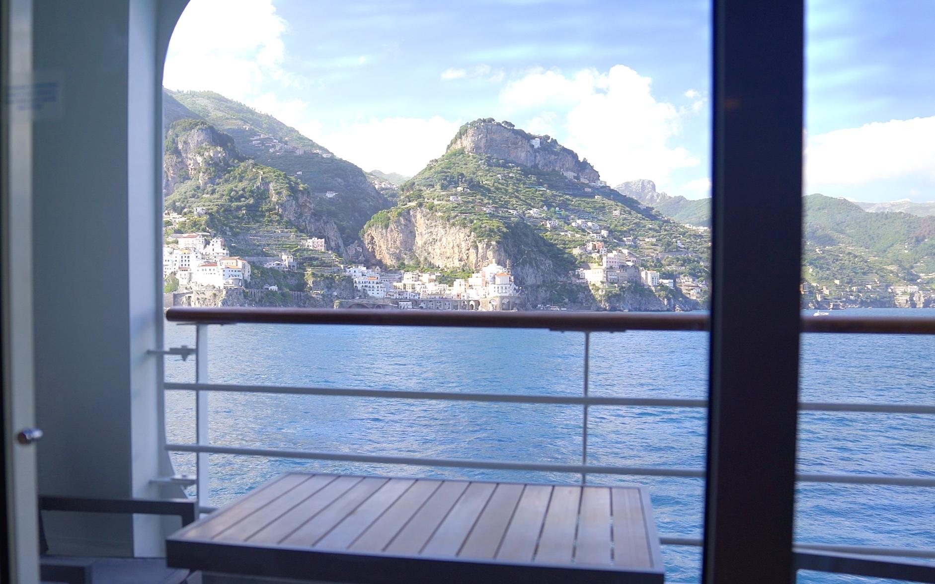 Arriving in Amalfi.