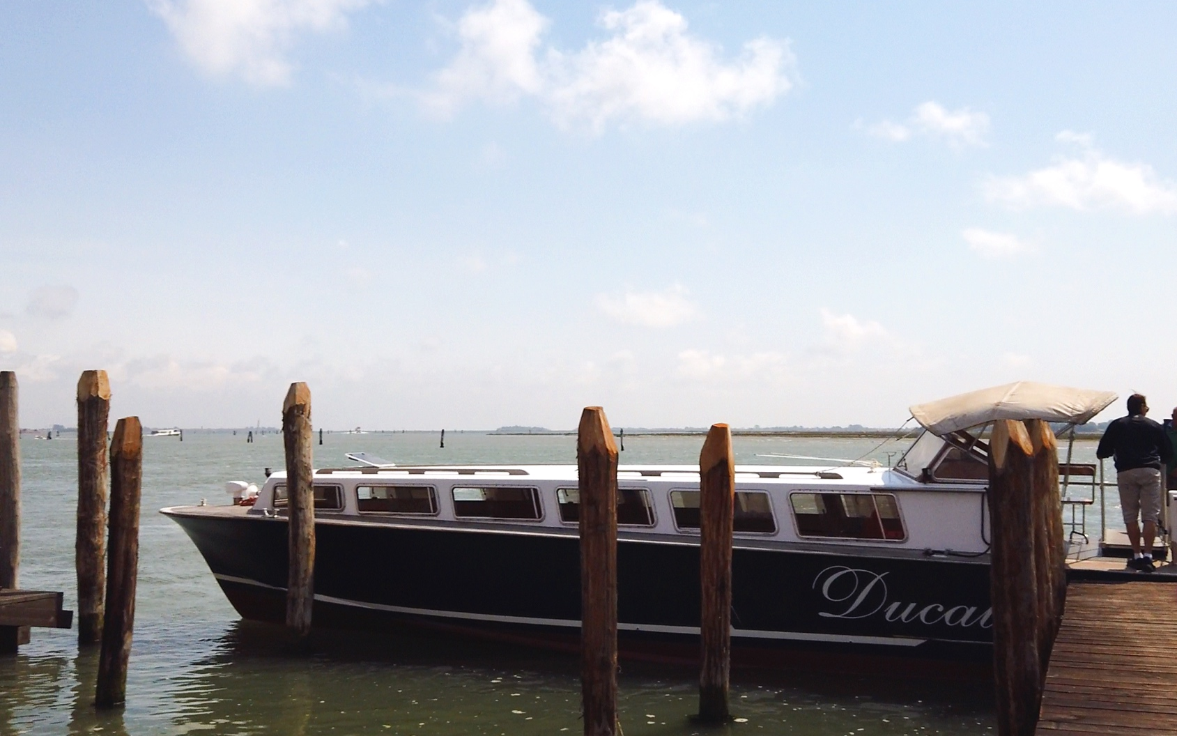 Our Venetian water taxi.