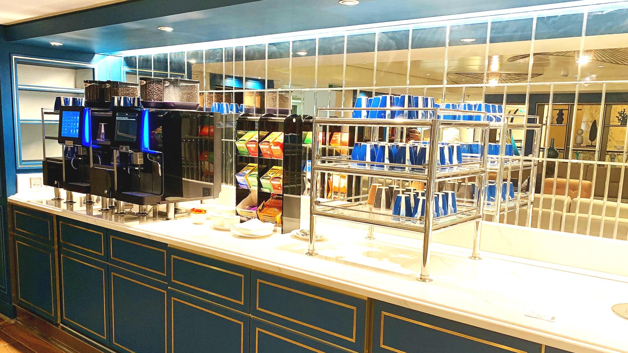 Self service tea/coffee station