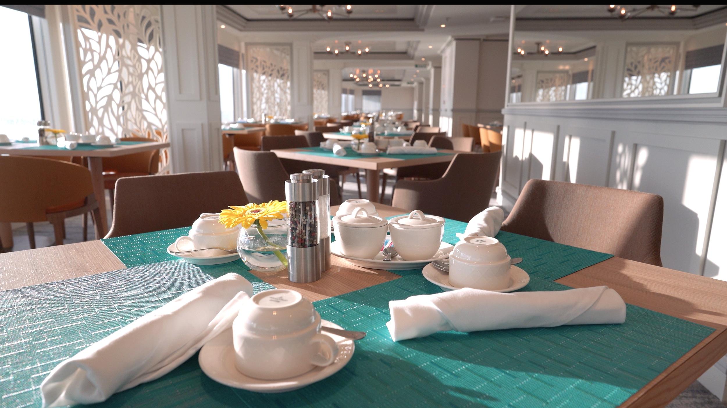 Elegant table settings.