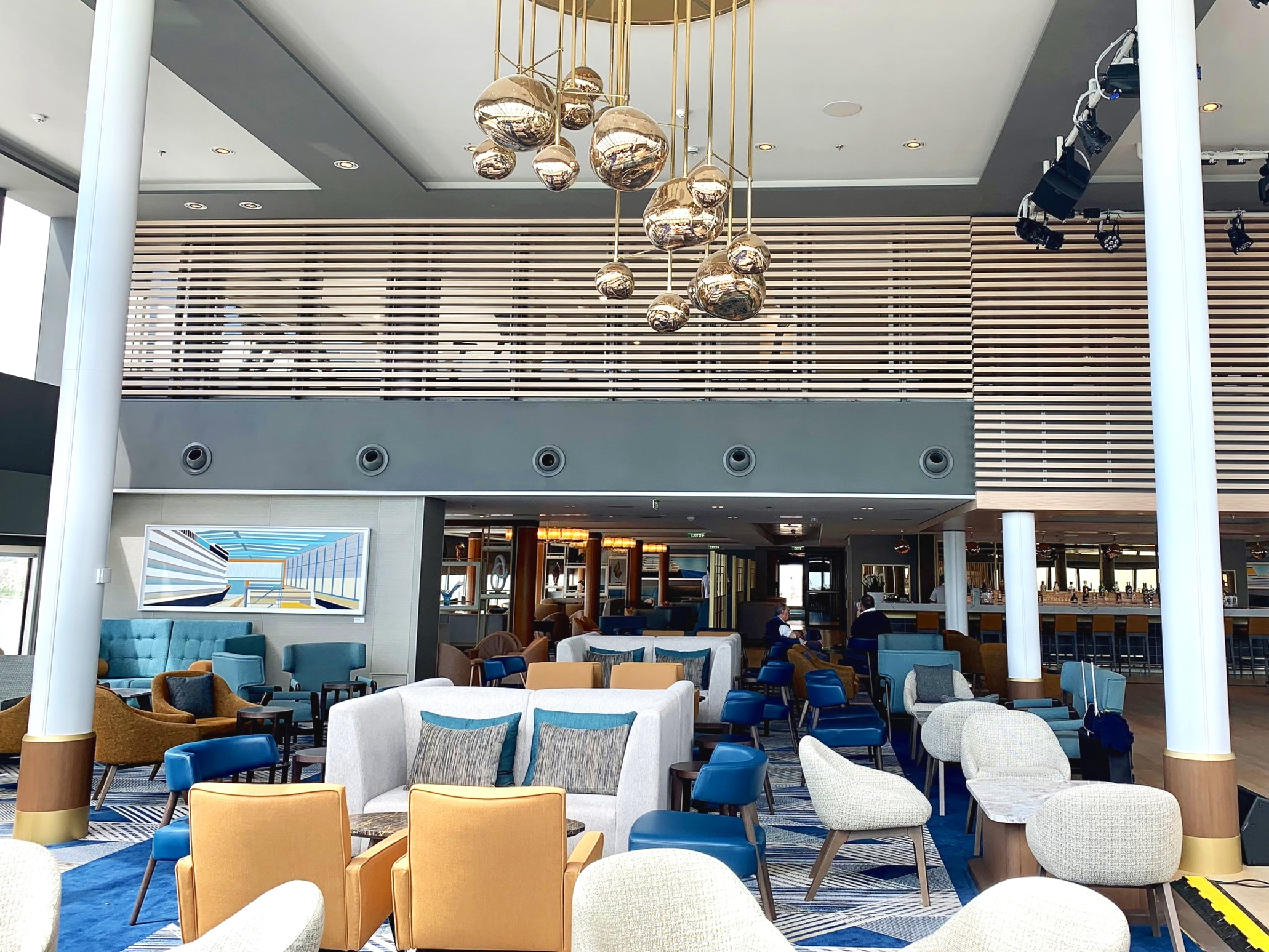 The beautifully decorated, light and airy, double height Britannia lounge.