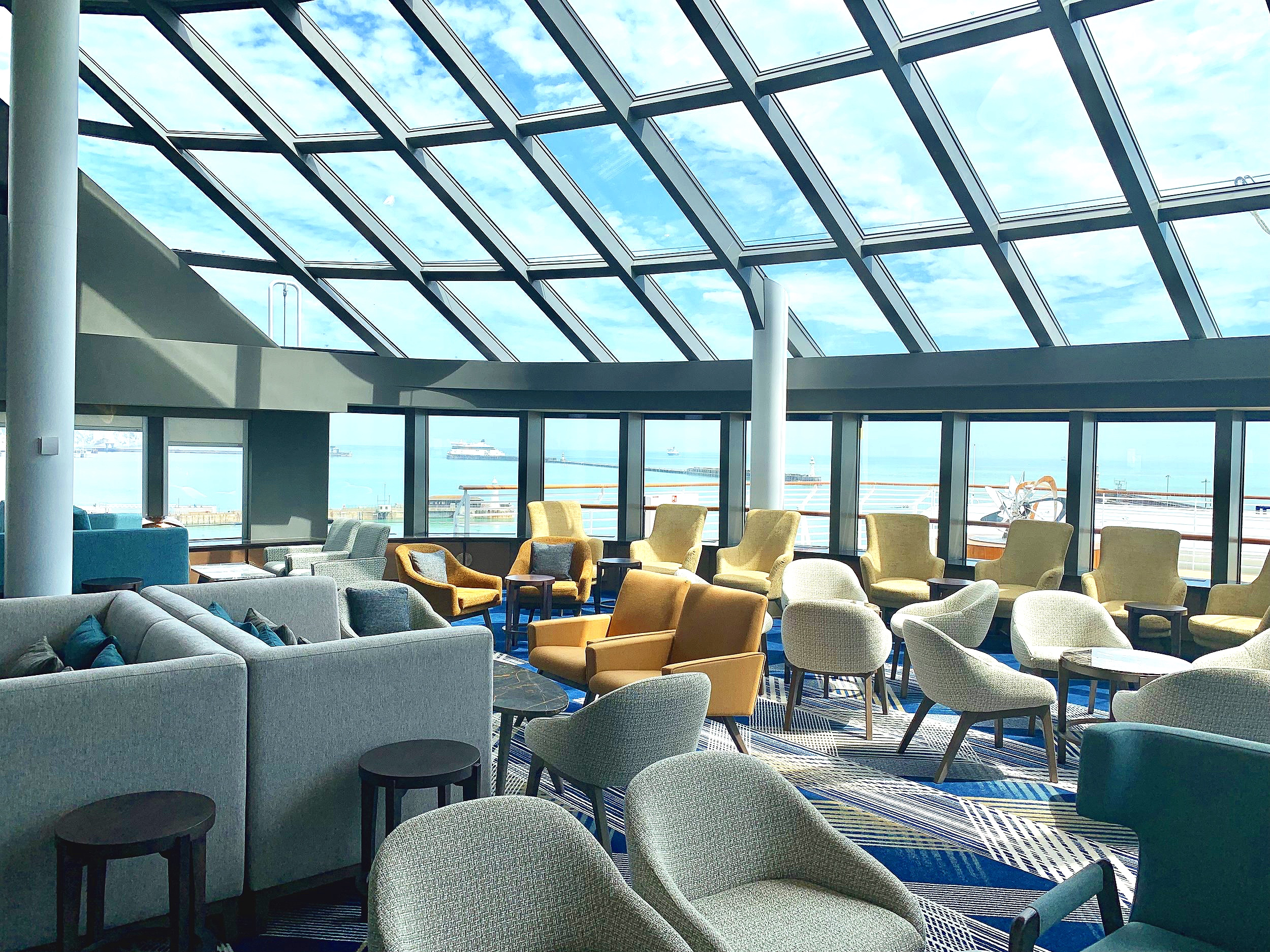 The wonderful panoramic double height windows.