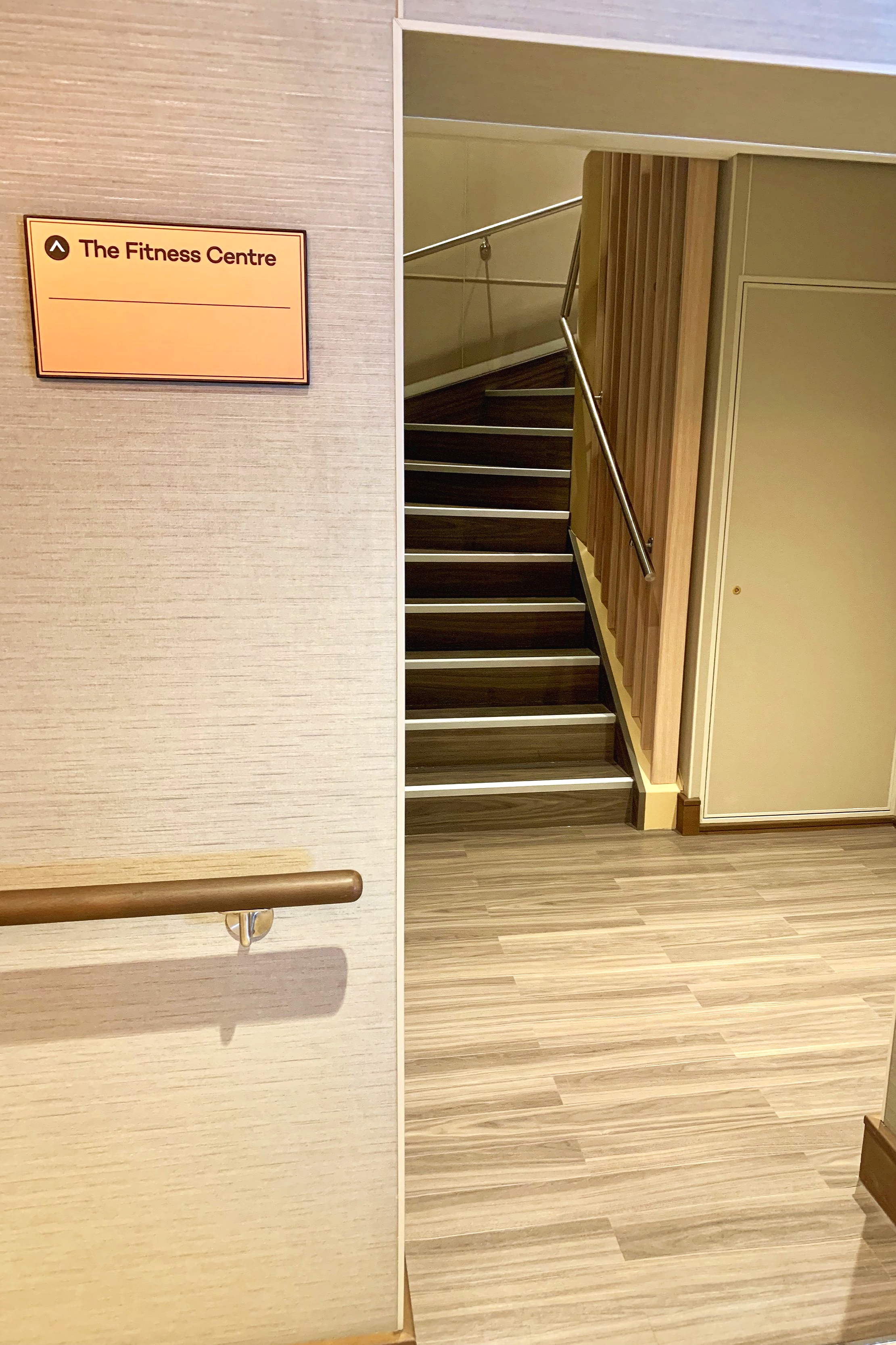 You have to be looking hard to find the somewhat hidden entrance to the gym!