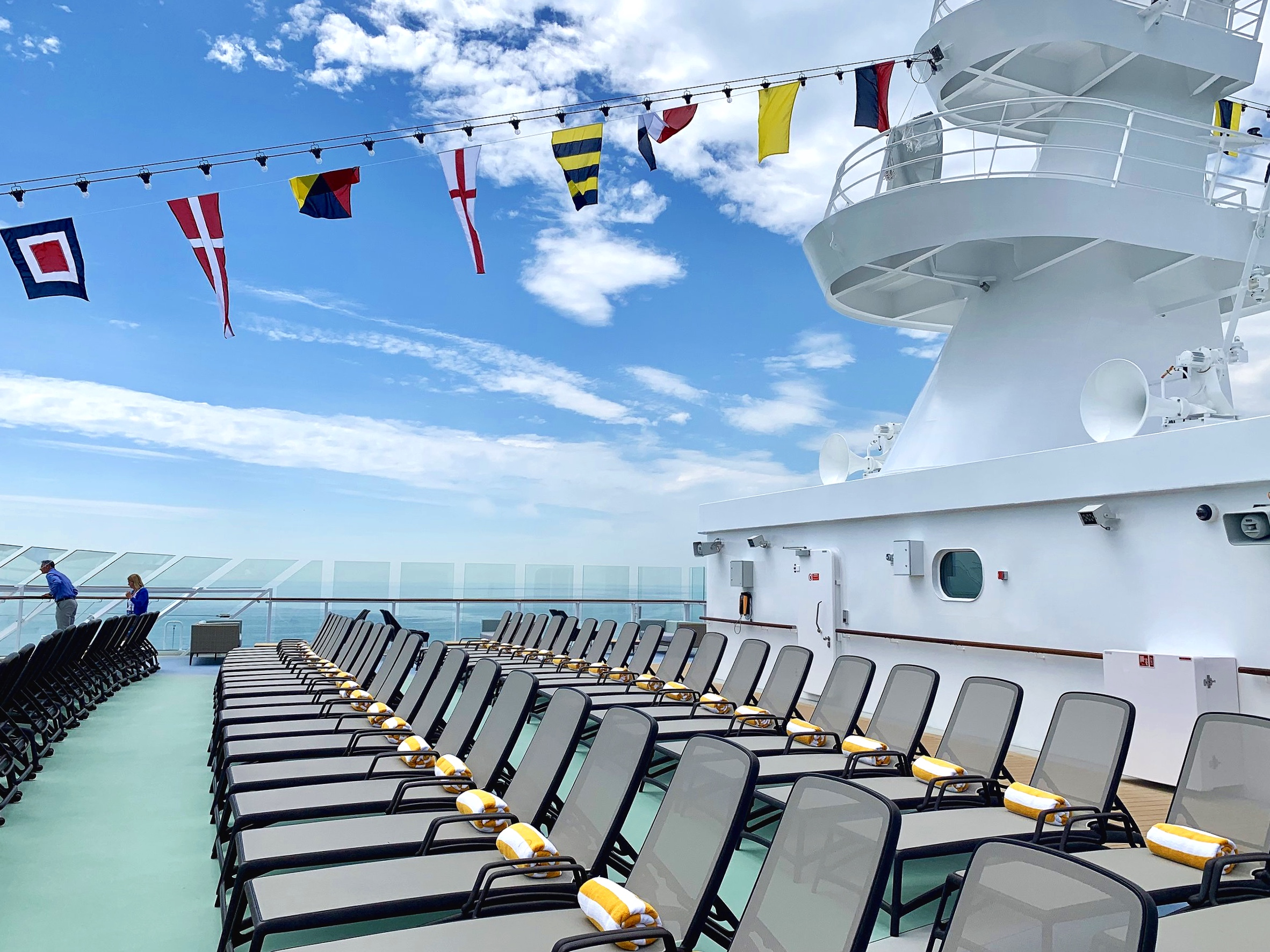 The top deck, perfect for a sunny day.