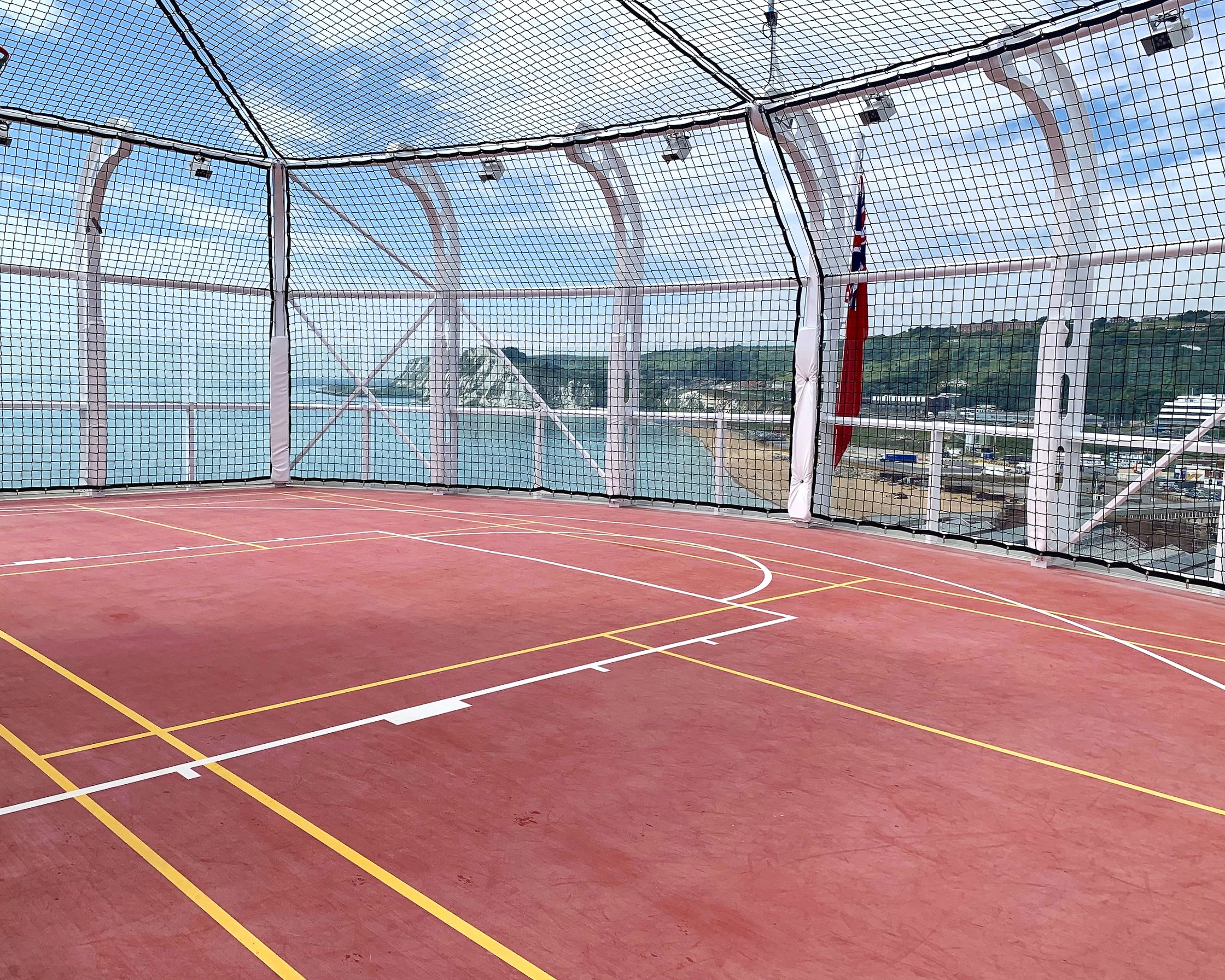The sports court.