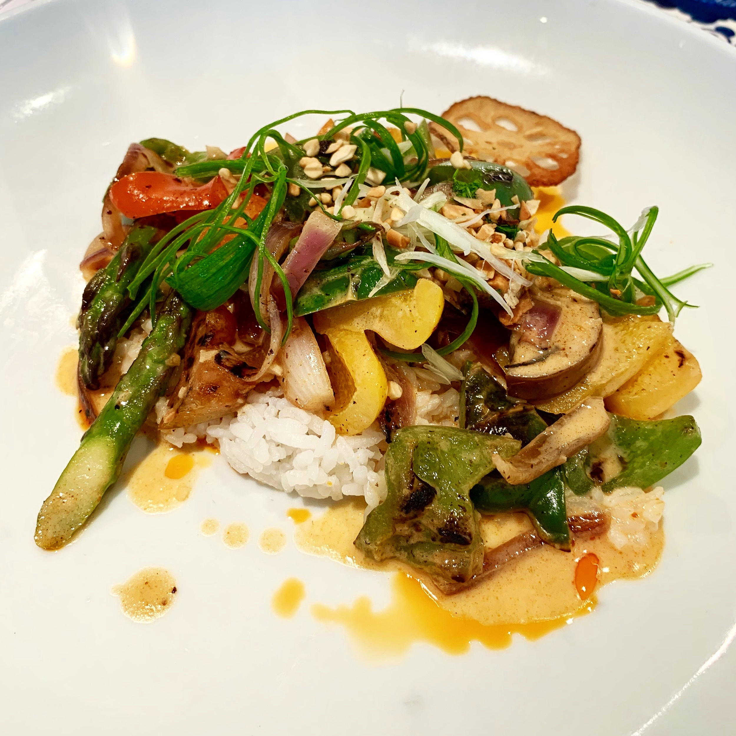 The vegetarian main - an impressively delicious eggplant massaman curry.
