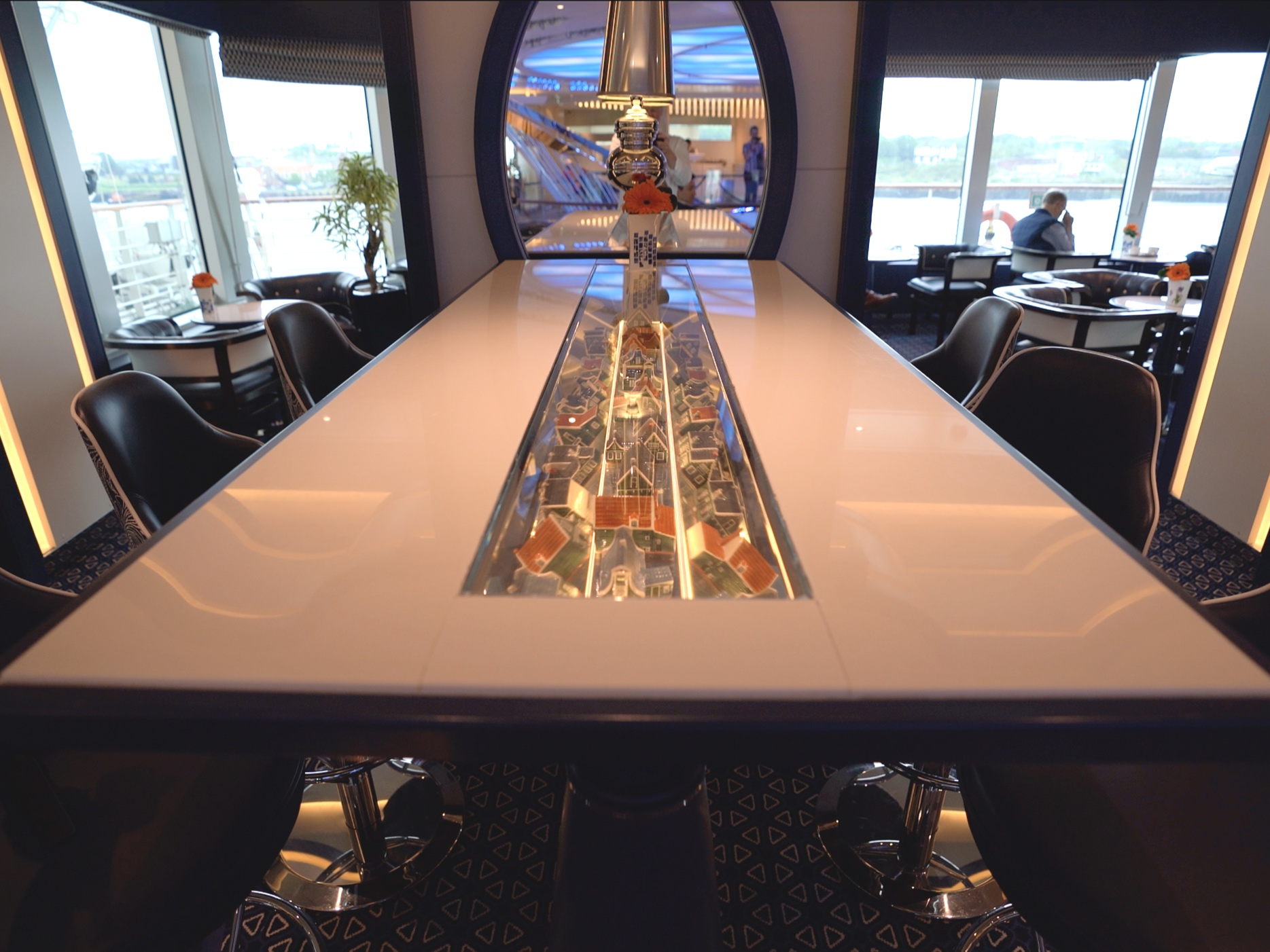 There's so much artwork on this ship, its even in the tabletops.