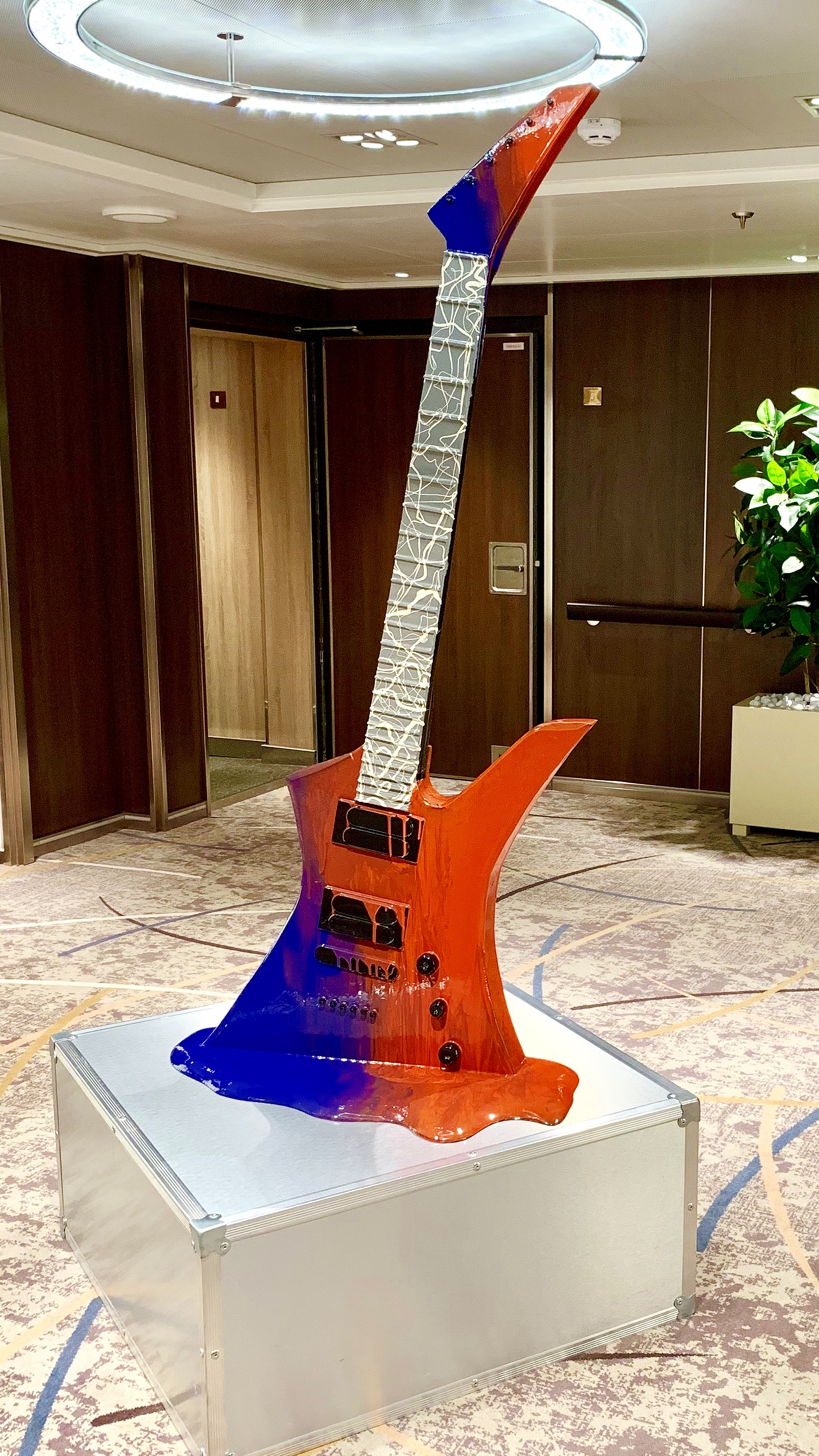 Guitar art in another lobby