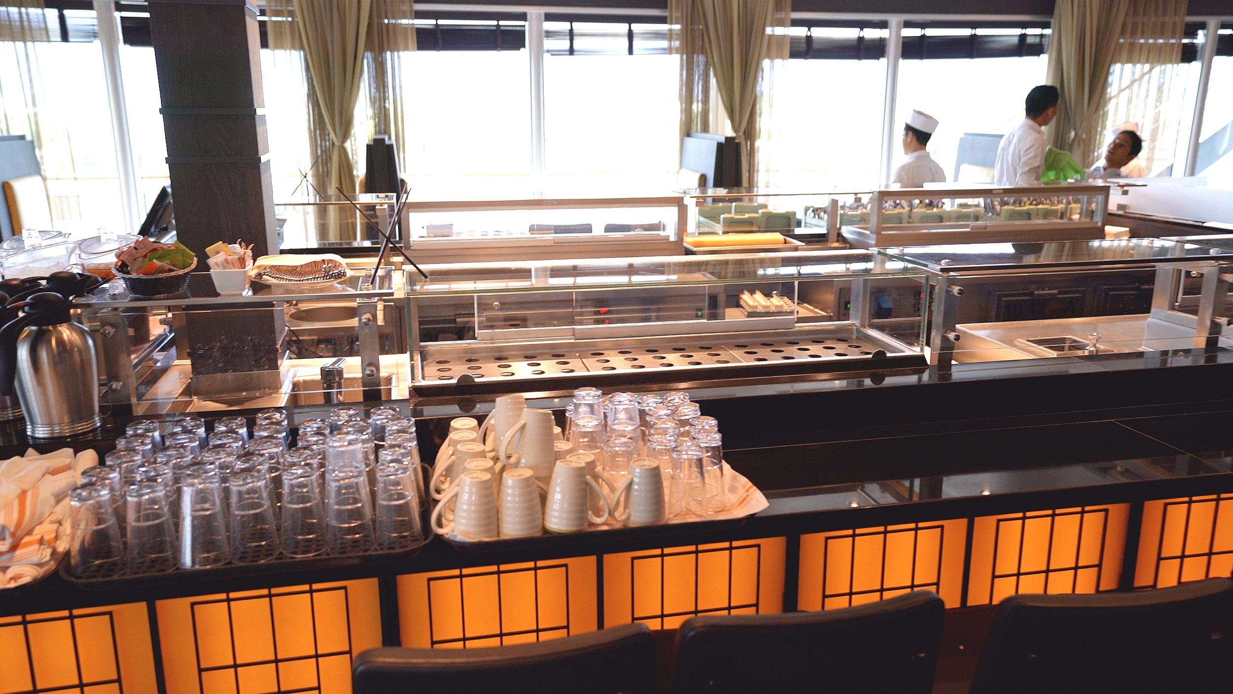 Tamarind and Nami Sushi preparation bar.