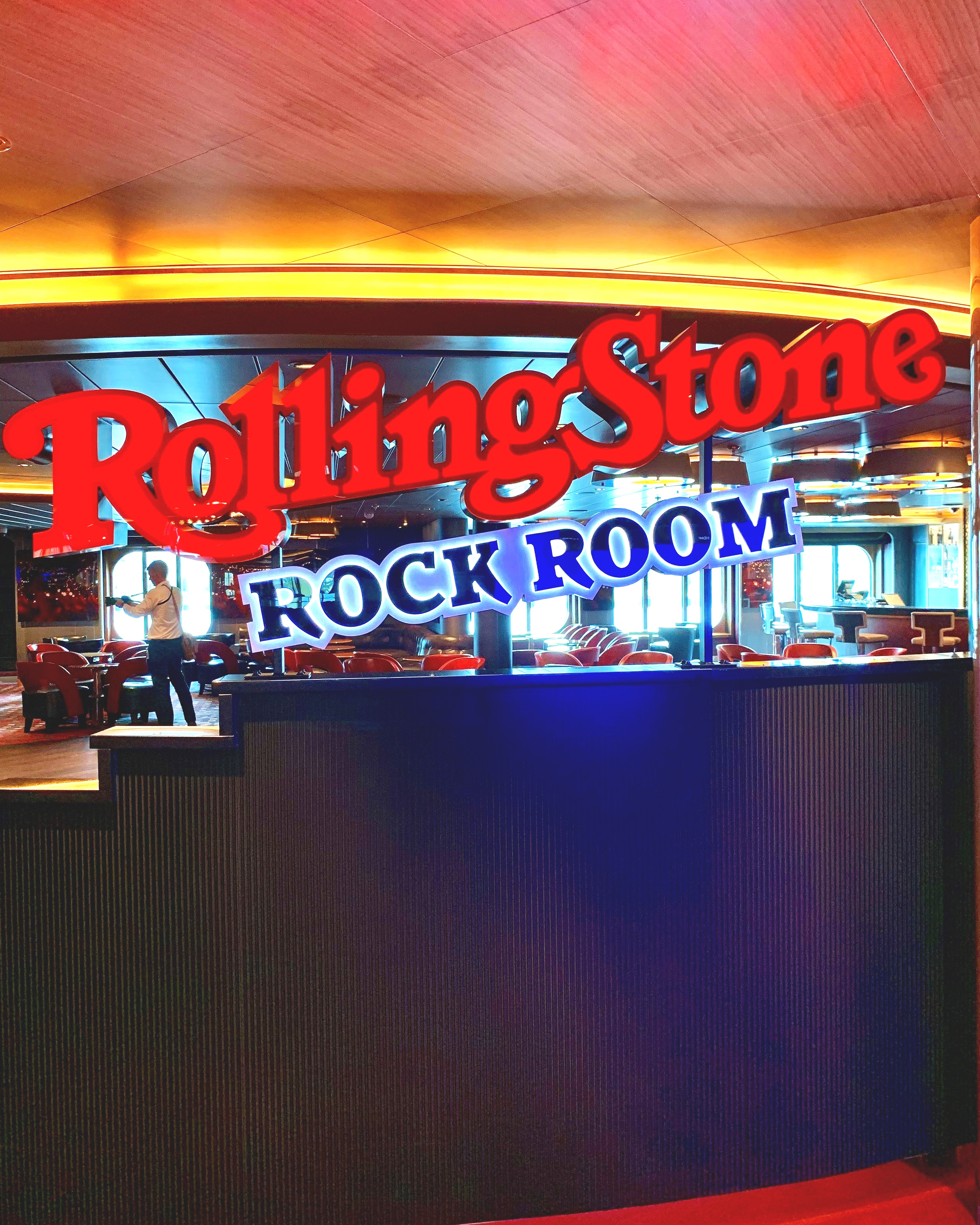 The Rolling Stone rock room - we can't wait to spend an evening here.