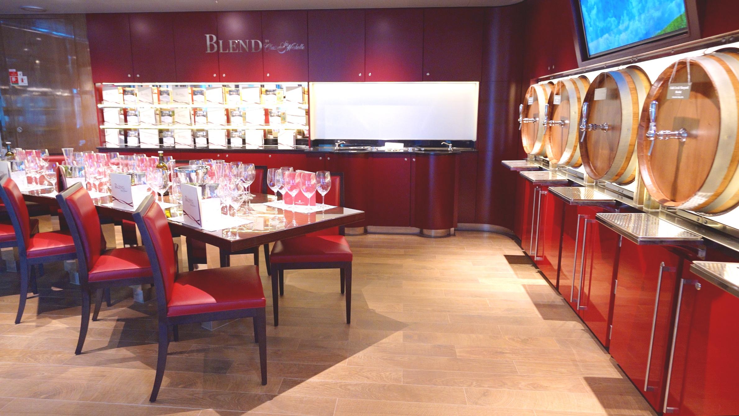 Blend wine tasting room
