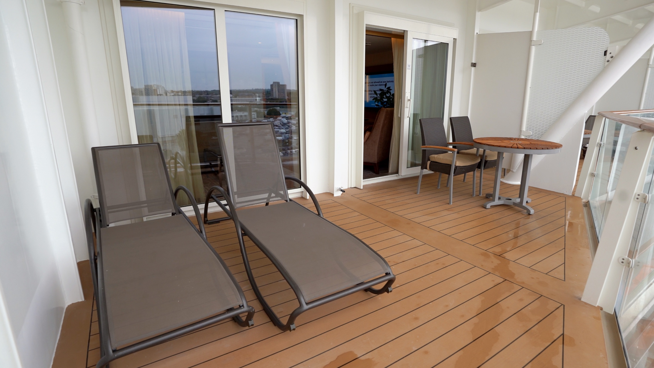 Large Celebrity suite balcony