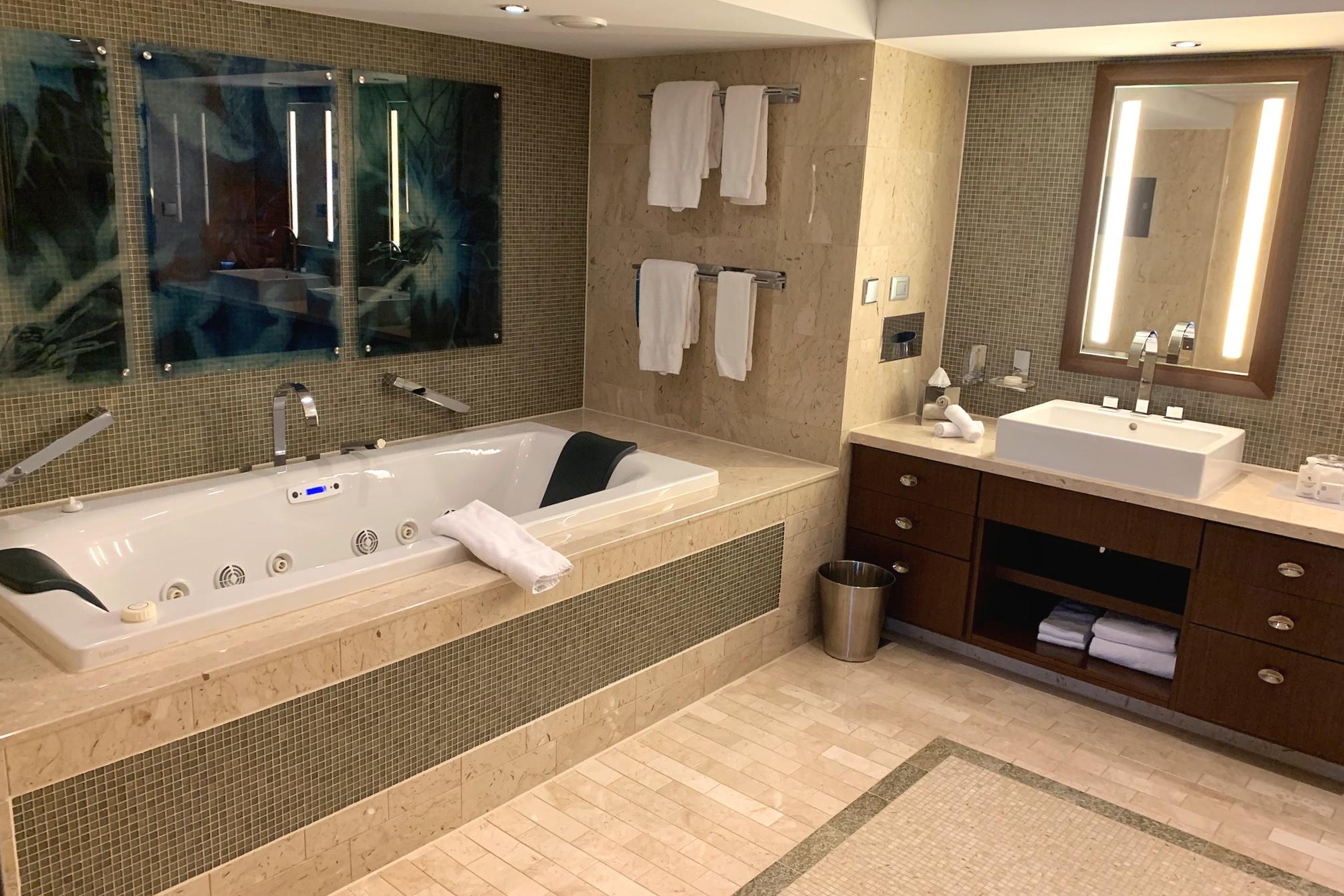 The massive bathroom