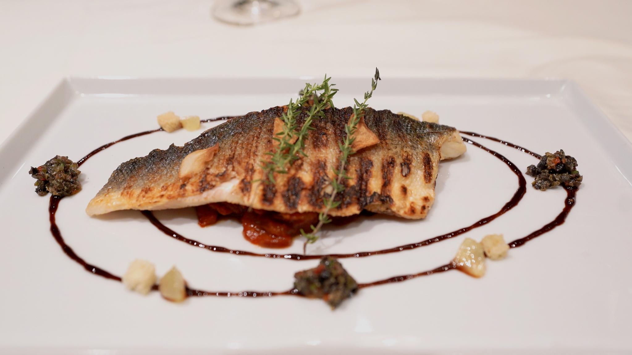 Murano sea bass dish
