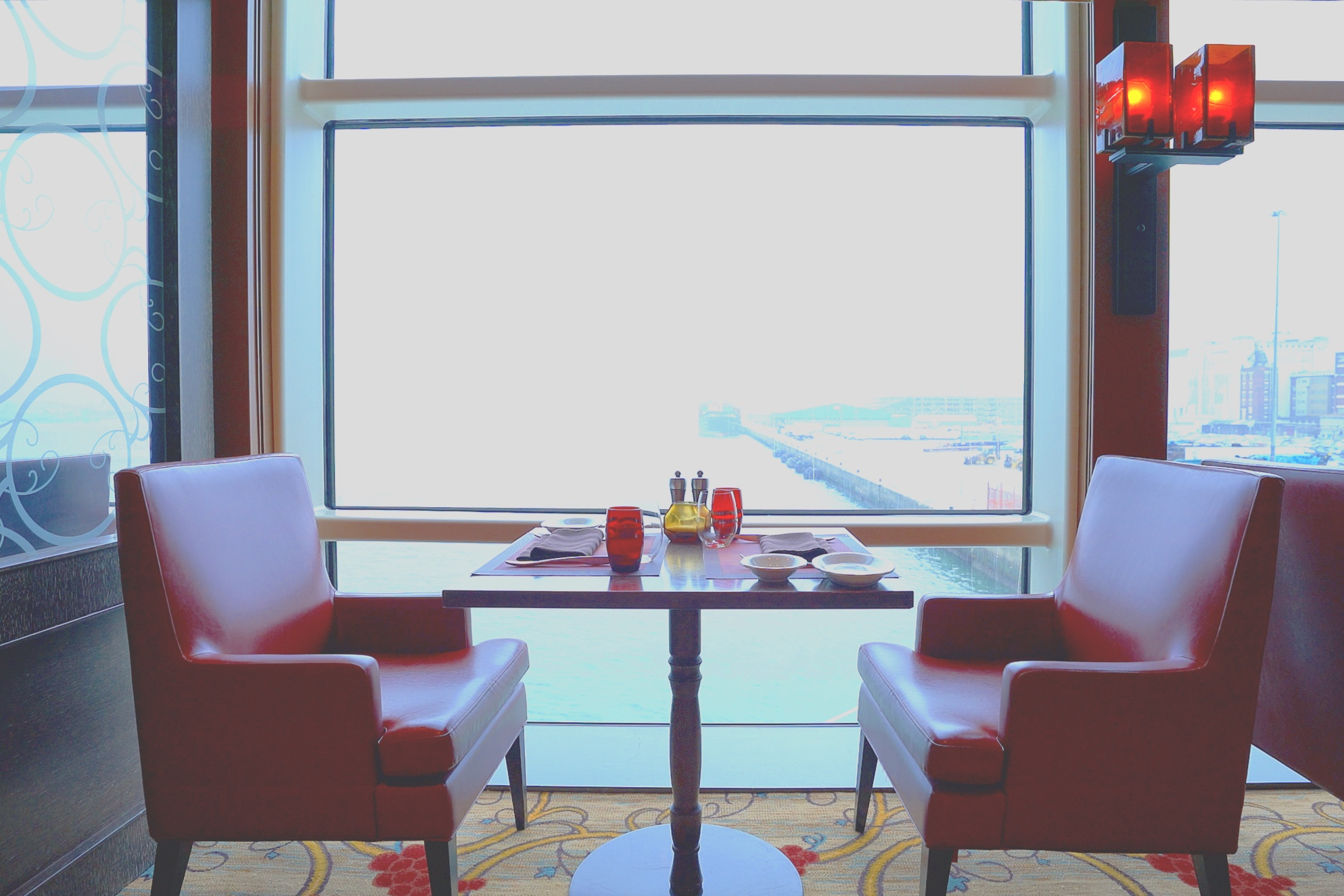 Tuscan Grille is situated at the rear of the ship with romantic wake views.