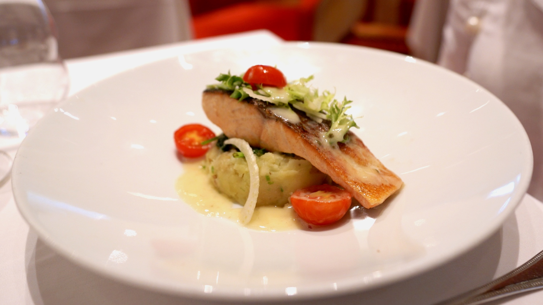 Our salmon lunch dish
