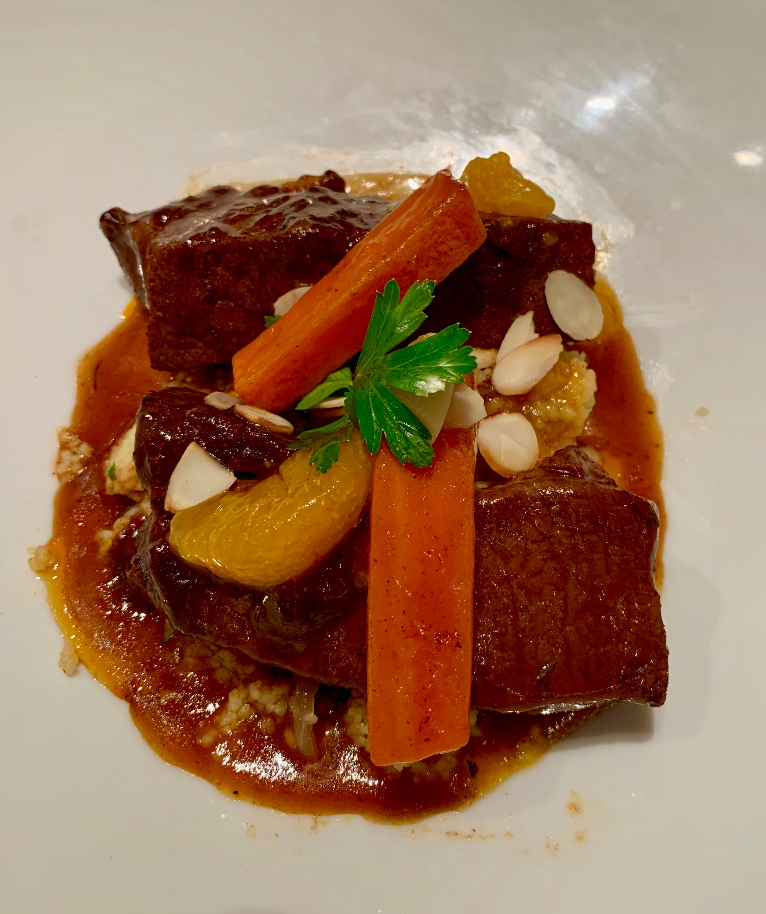 Delicious beef tagine lunch dish