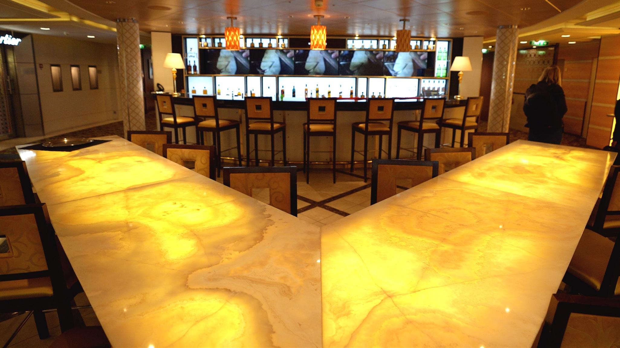 The World class bar
