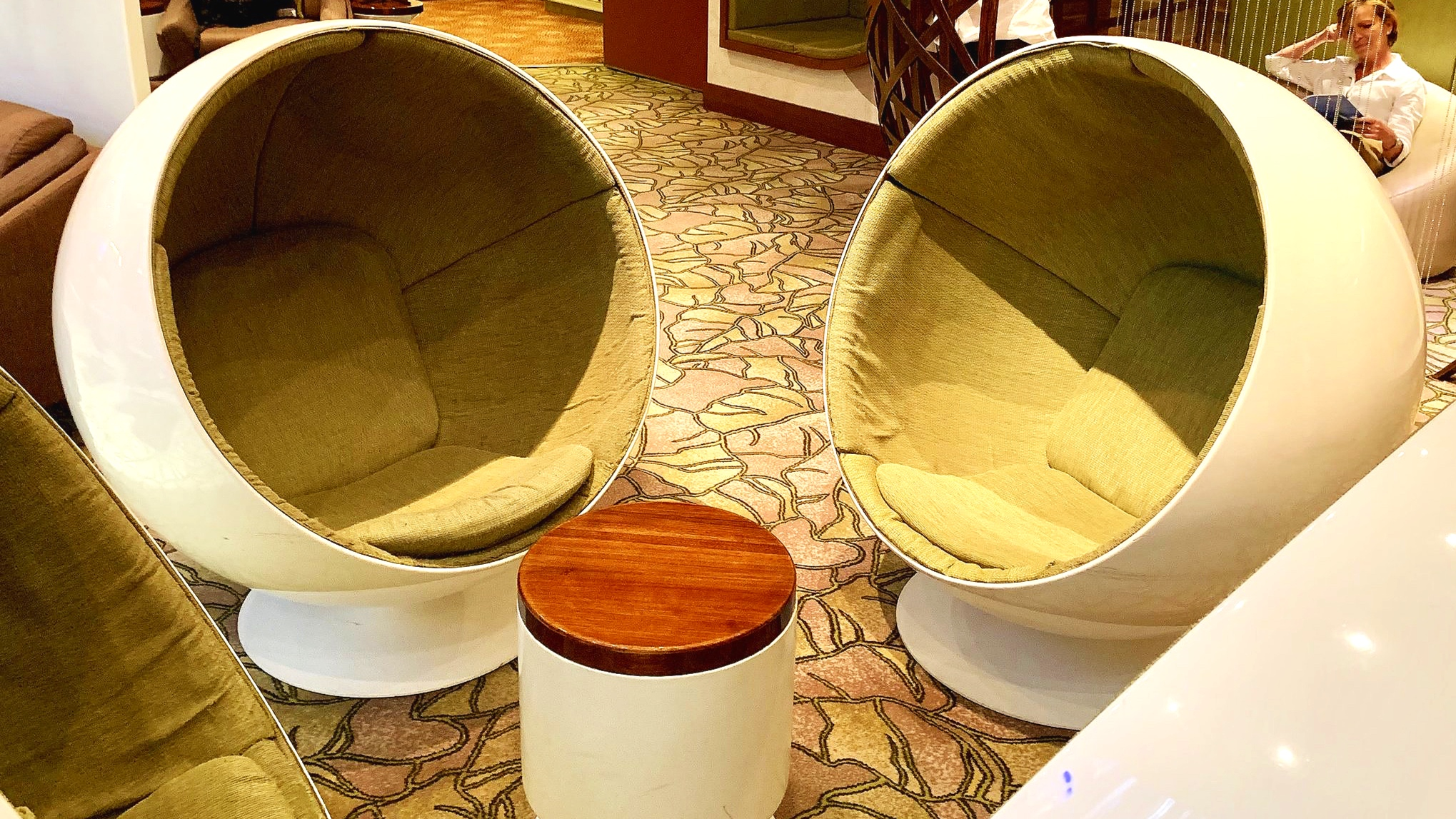 Funky chairs in the Hideaway
