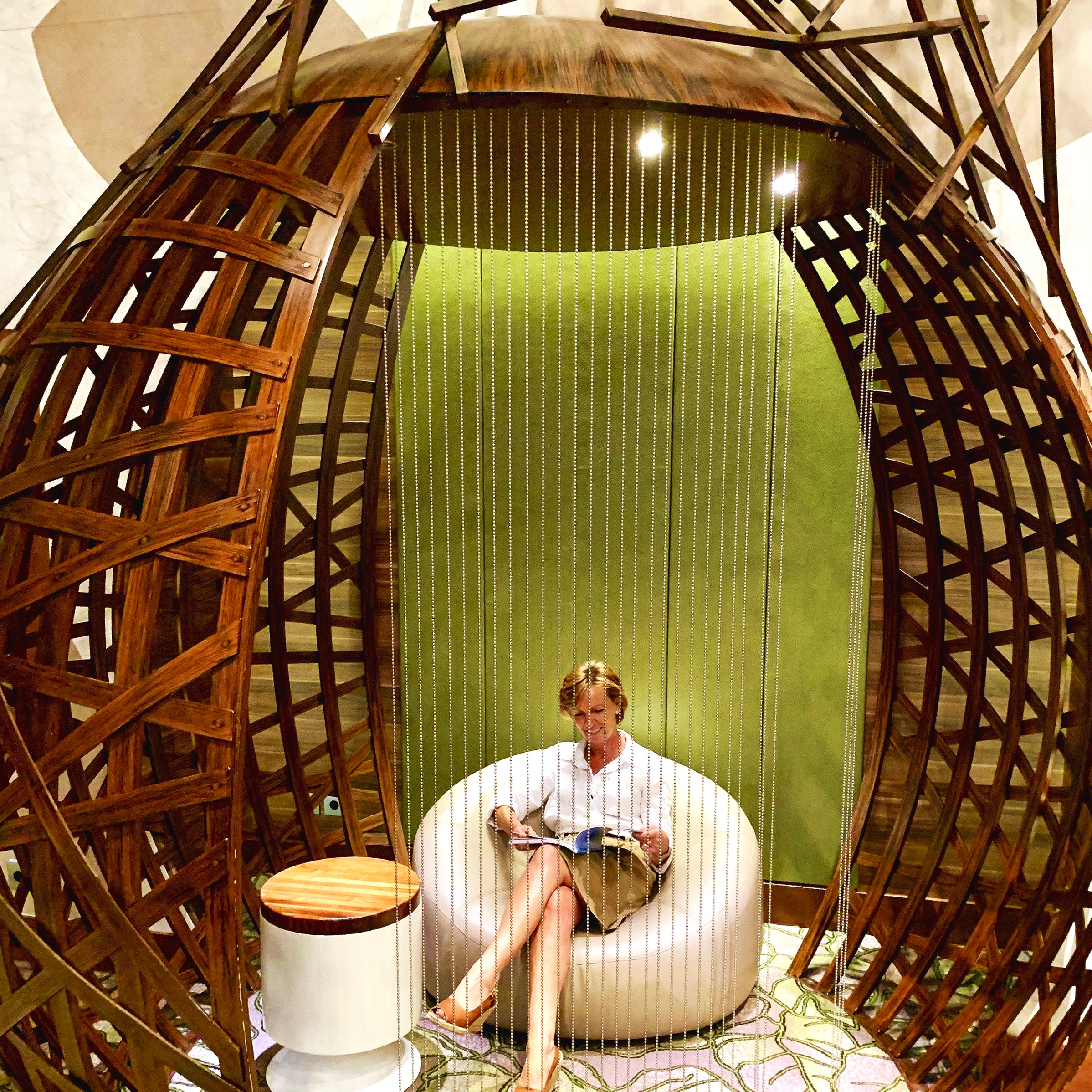 We love these reading pods in the Hideaway.
