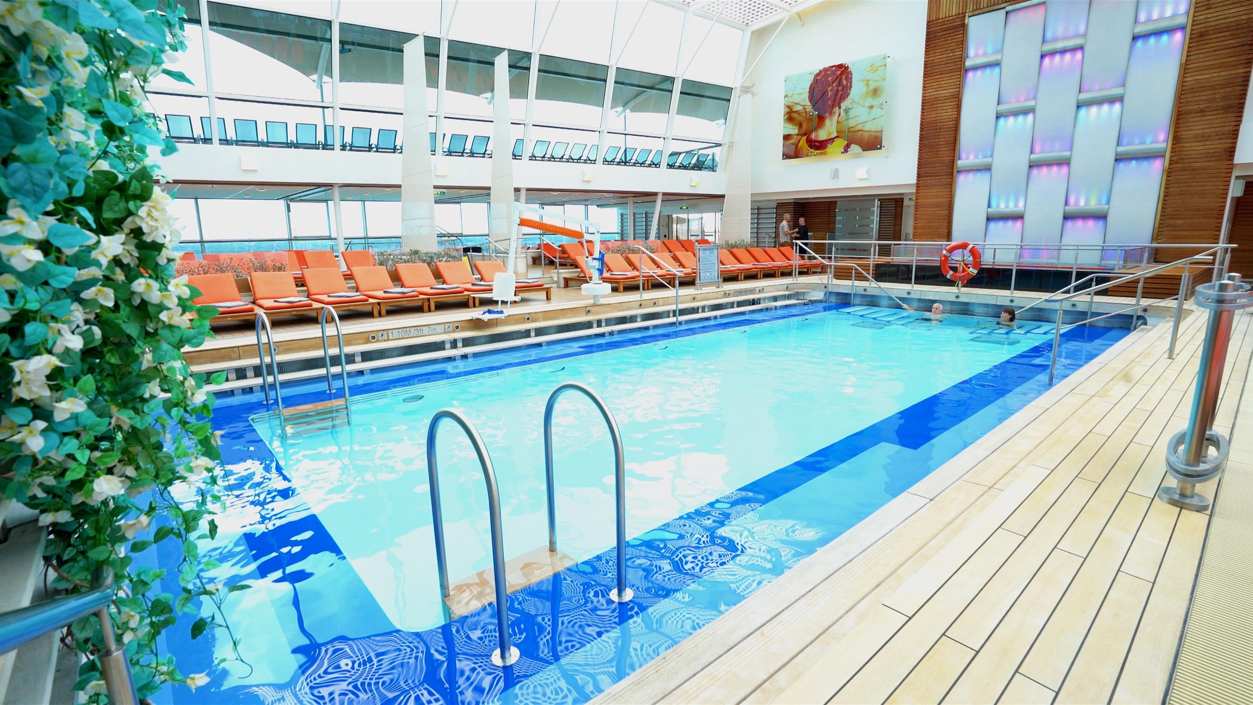 The Solarium indoor pool